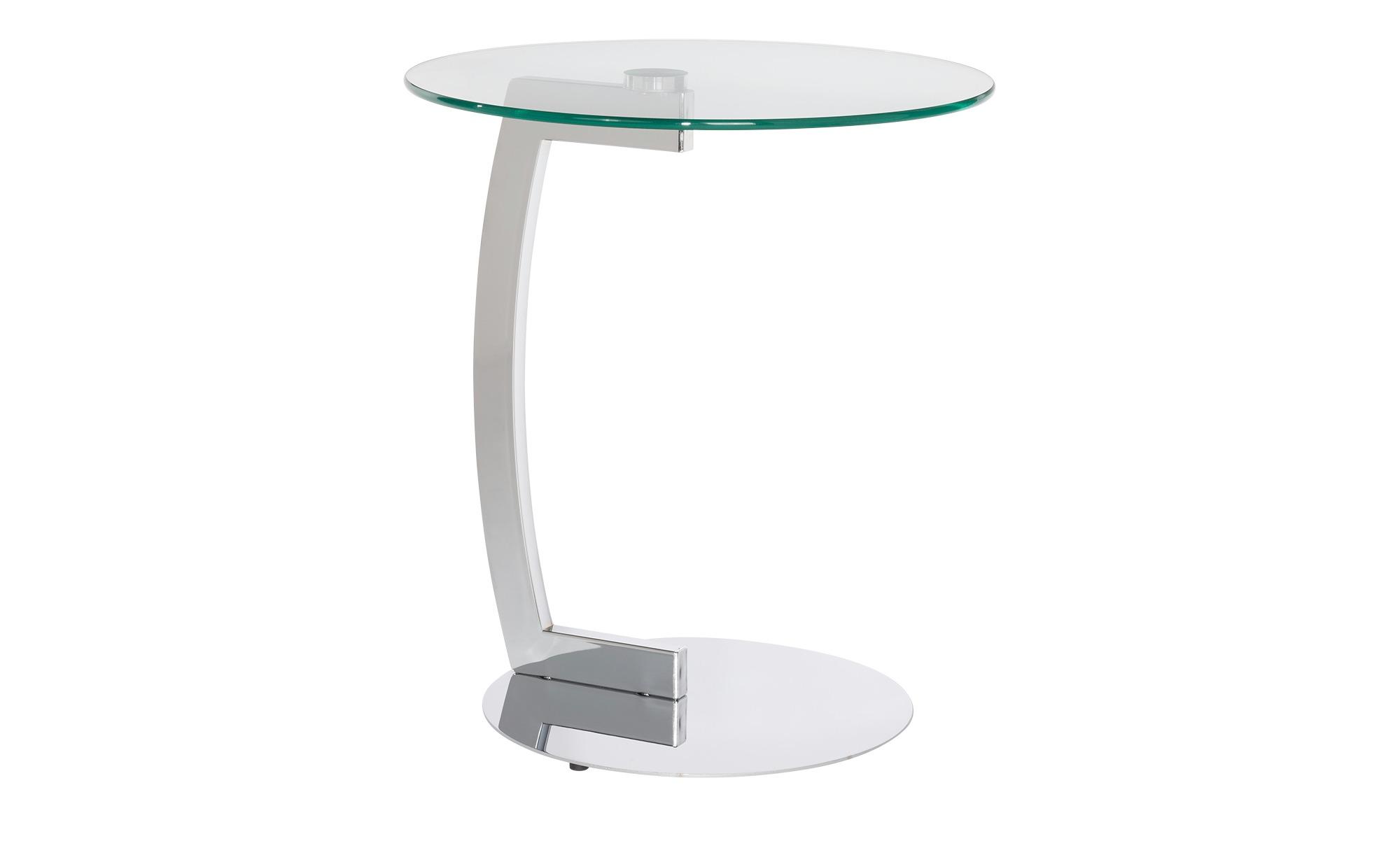 Beistelltisch Metall Glas  Asja ¦ transparent/klarØ: 45 Tische > Beistelltische > Beistelltische ohne Rollen - Höffner