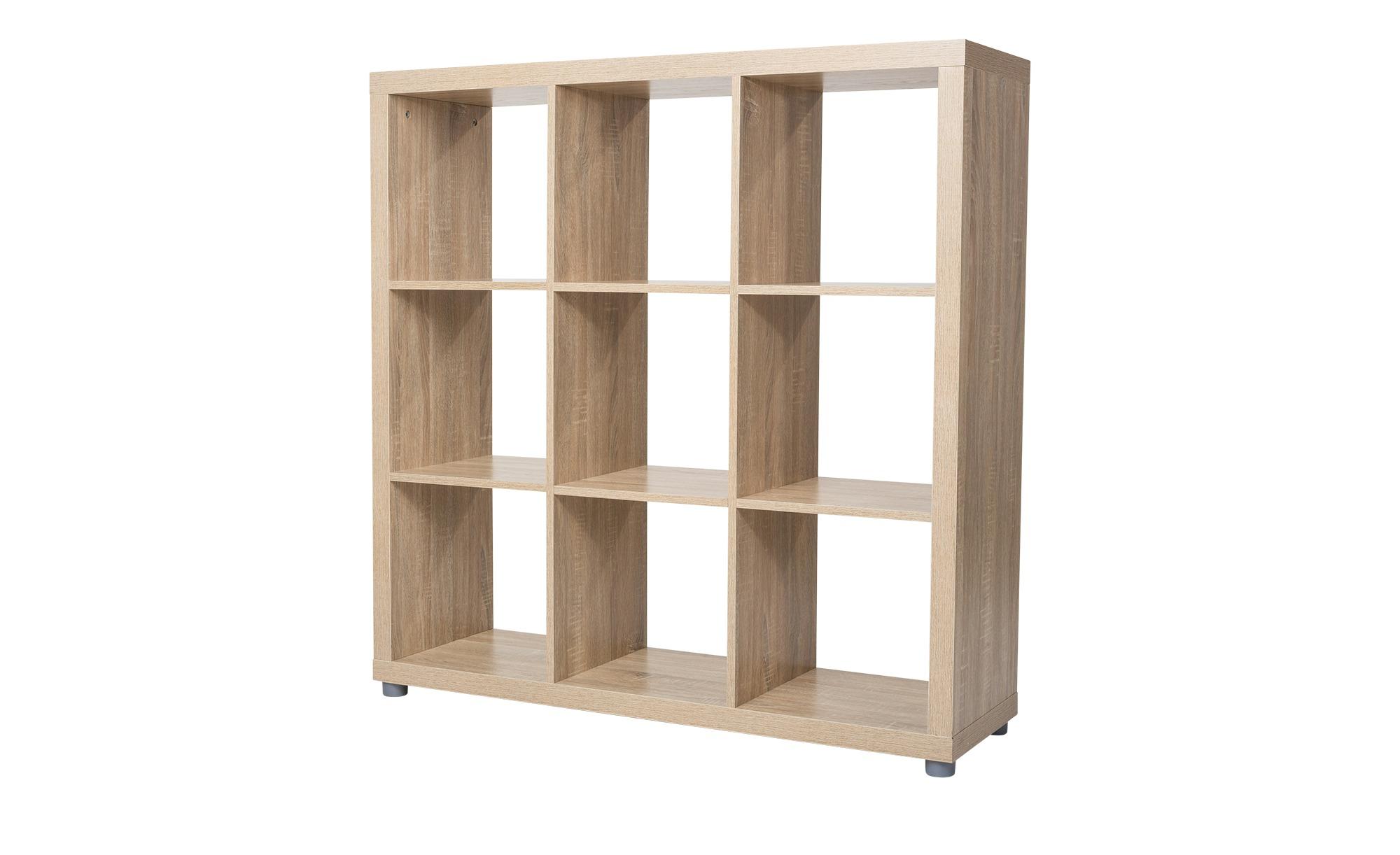 Raumteiler 3x3  Caro ¦ holzfarben ¦ Maße (cm): B: 115 H: 115 T: 35 Regale > Raumteiler - Höffner | Wohnzimmer > Regale | Holzfarben | Holzwerkstoff | Möbel Höffner DE