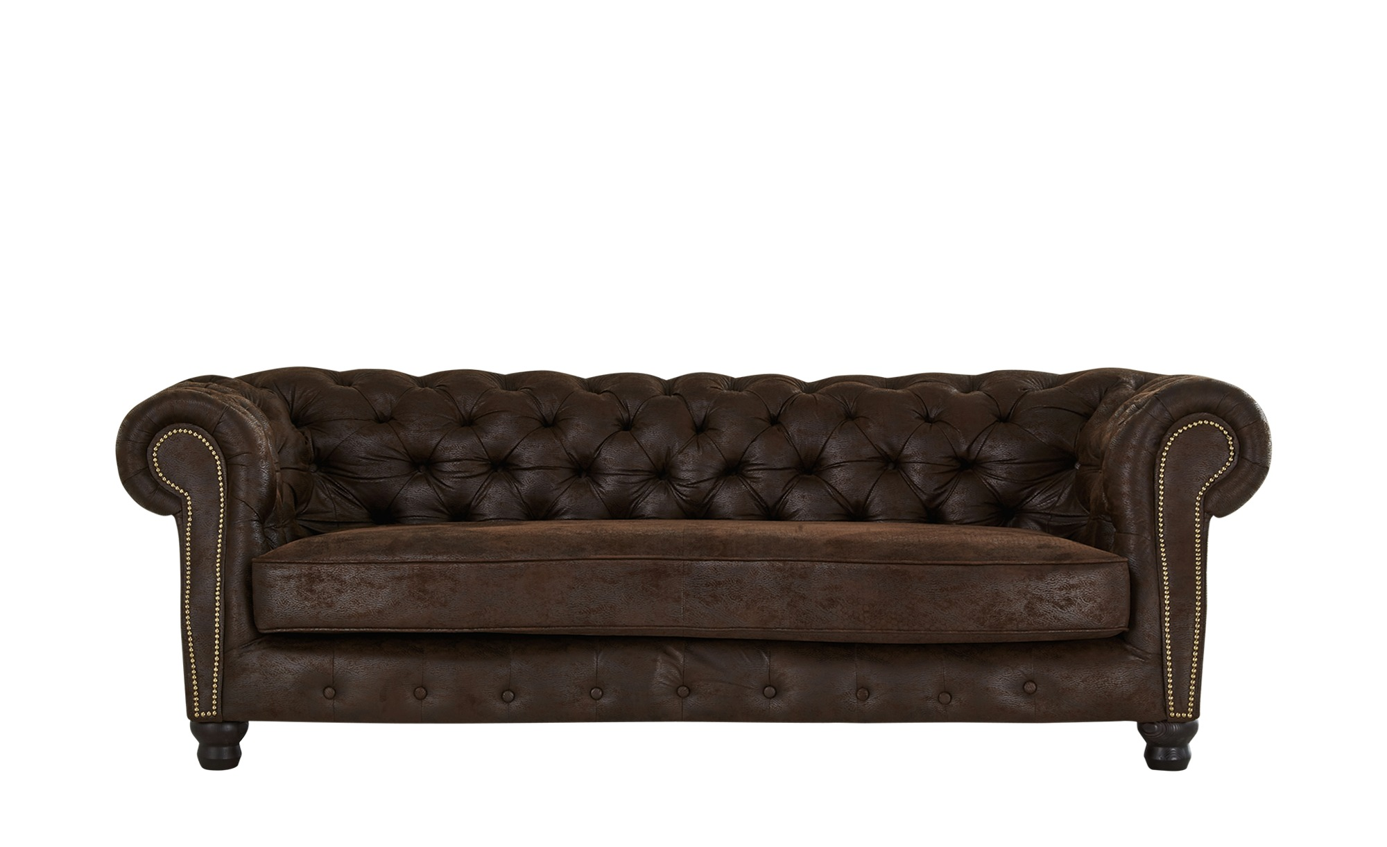 Sofa  Kingsley ¦ braun ¦ Maße (cm): B: 223 H: 75 T: 107 Polstermöbel > Sofas > Einzelsofas - Höffner