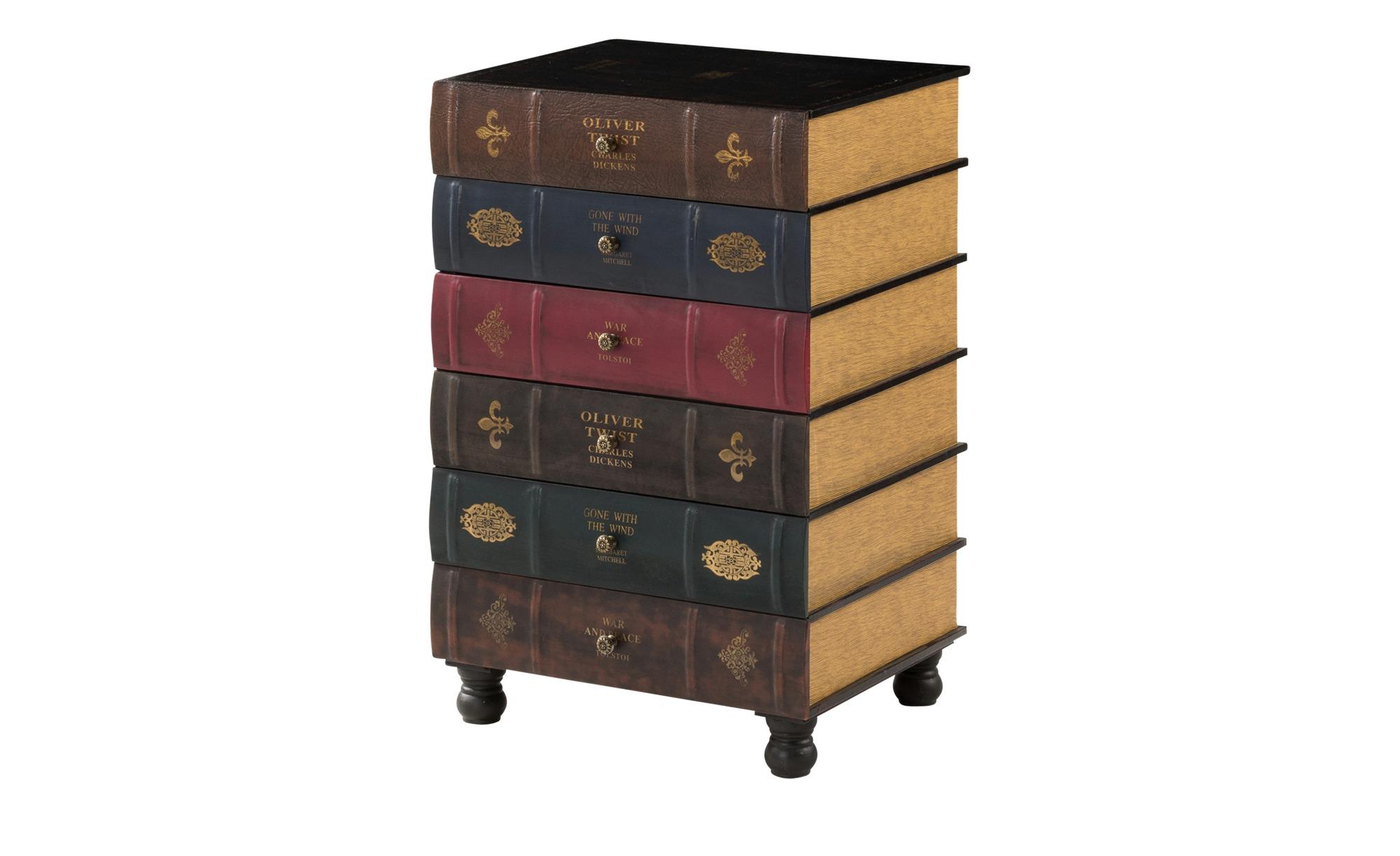 Kommode used Look  Books ¦ mehrfarbig ¦ Maße (cm): B: 50 H: 81 T: 42 Kommoden & Sideboards > Kommoden - Höffner