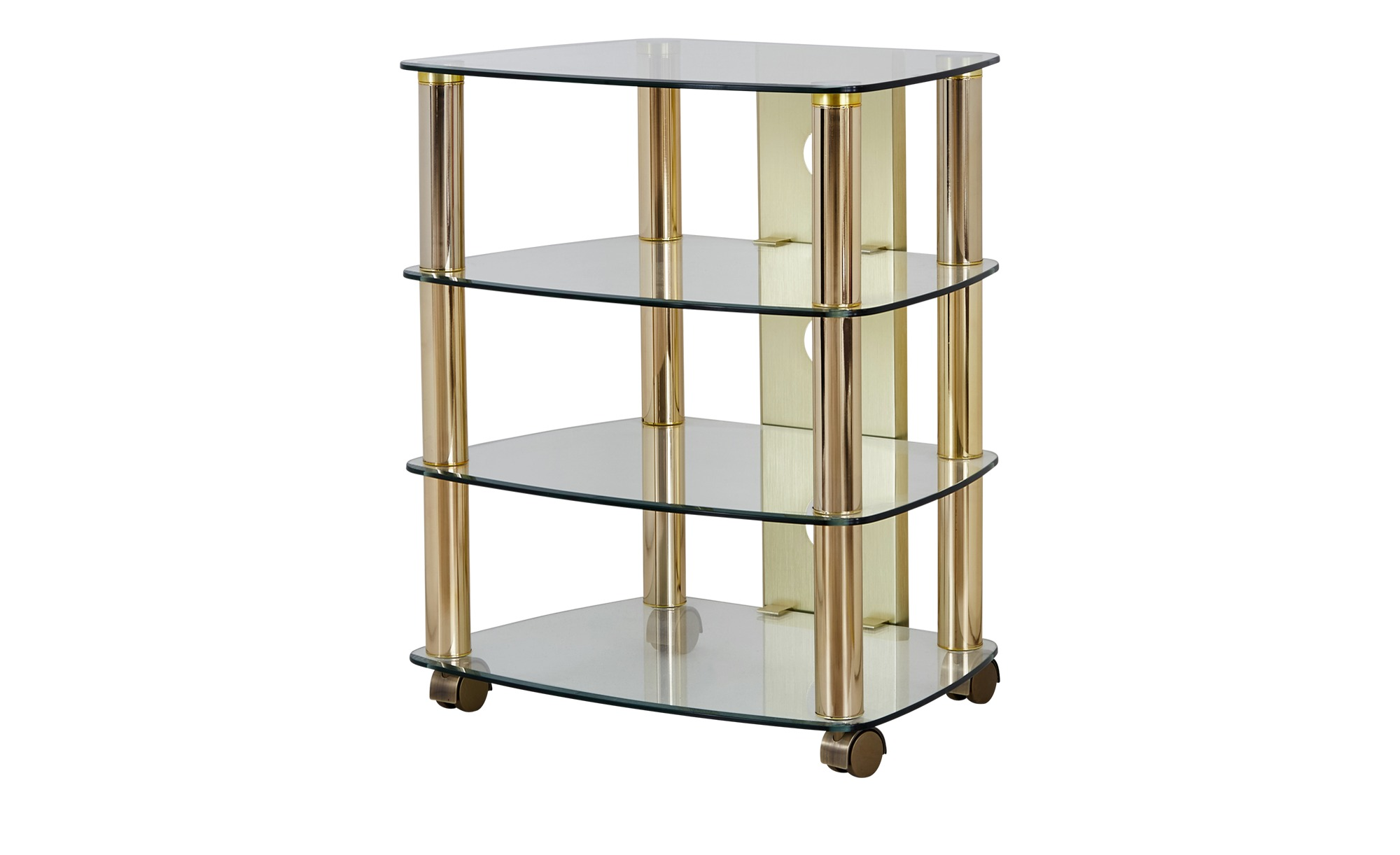 TV-Rack  Malchin ¦ gold ¦ Maße (cm): B: 60 H: 74 T: 47 TV- & Media Möbel > TV-Racks - Höffner