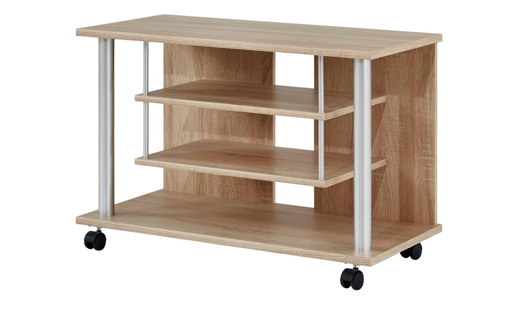 TV-Wagen  Mernes I ¦ holzfarben ¦ Maße (cm): B: 80 H: 55 T: 40 TV- & Media Möbel > TV-Racks - Höffner