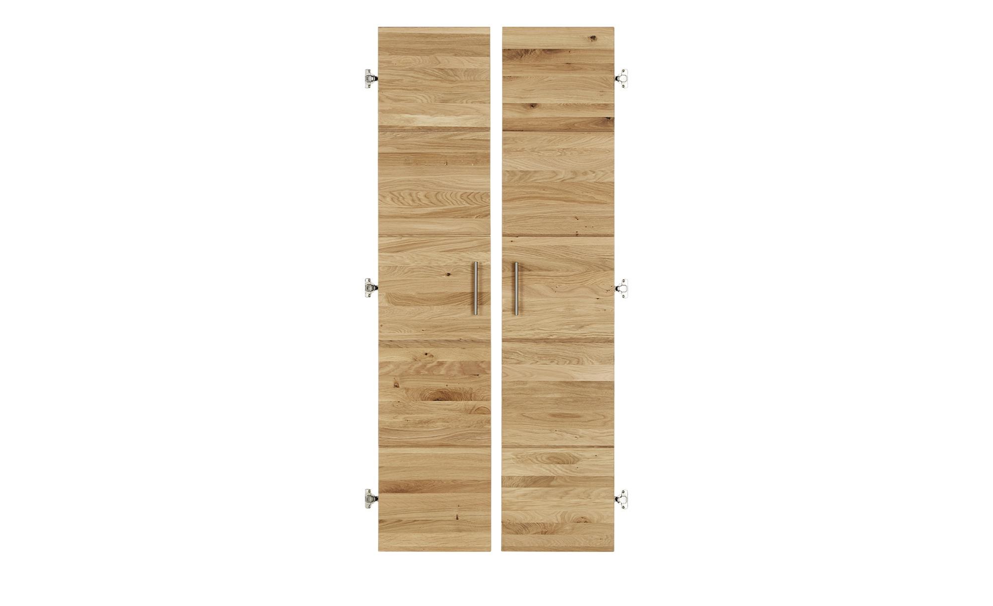 Türenpaar für Aktenregal  Oslo ¦ holzfarben ¦ Maße (cm): B: 76 H: 176,2 T: 2 Sonstiges Zubehör - Höffner | Büro > Büroregale | Holzfarben | Massivholz - Metall | Möbel Höffner DE