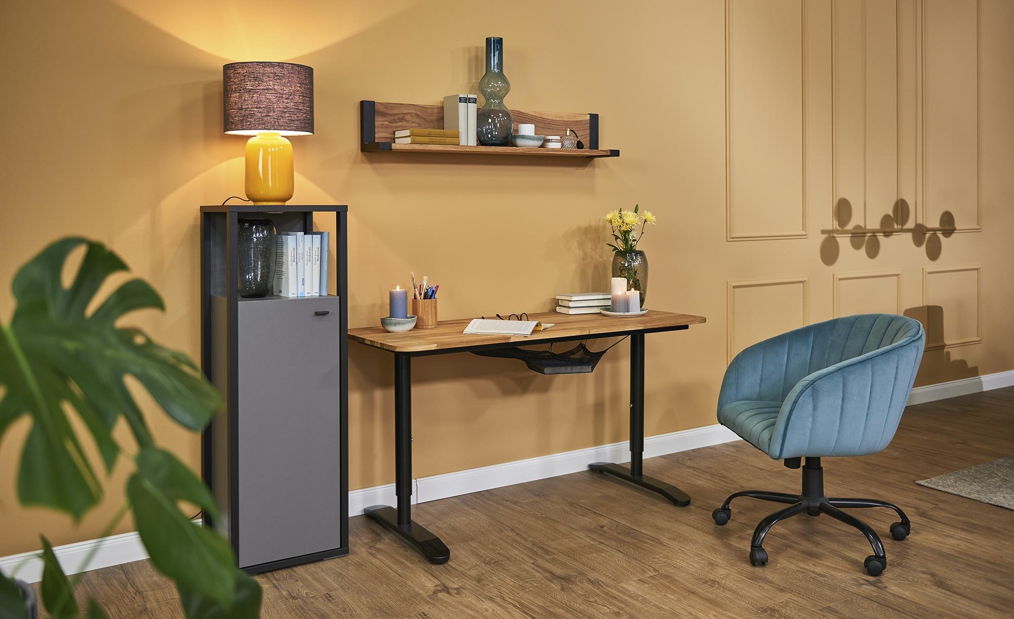 Drehsessel  Ahr ¦ blau ¦ Maße (cm): B: 65 T: 62 Stühle > Bürostühle > Drehstühle - Höffner