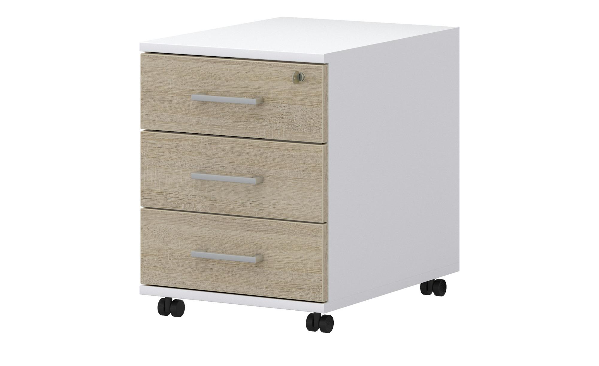 Rollcontainer  Donez ¦ weiß ¦ Maße (cm): B: 42|5 H: 55 T: 50 Schränke > Rollcontainer - Höffner | Büro > Büroschränke | Möbel Höffner DE