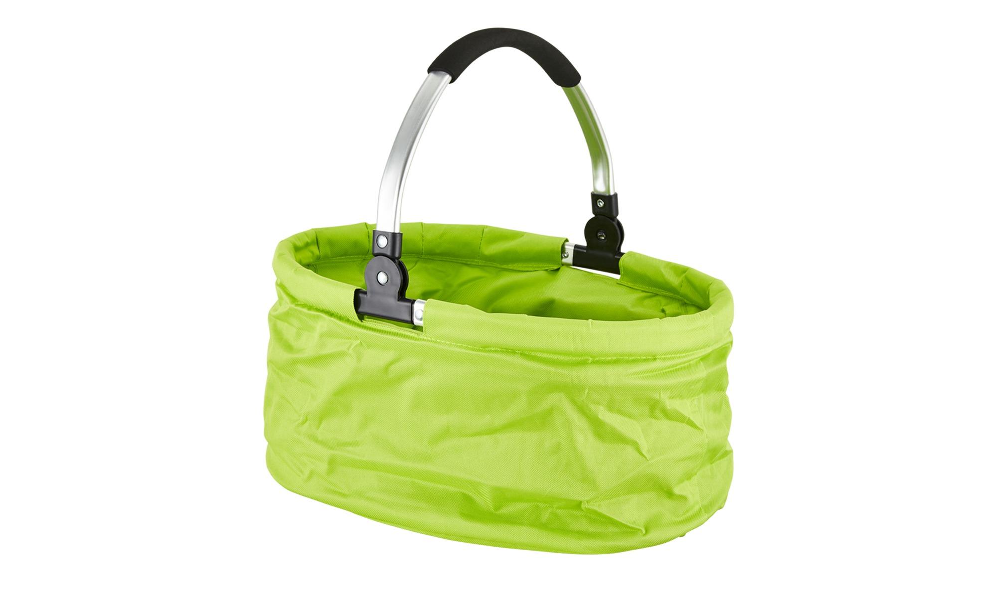 Einkaufskorb ¦ grün ¦ Polyester Aufbewahrung > Körbe - Höffner