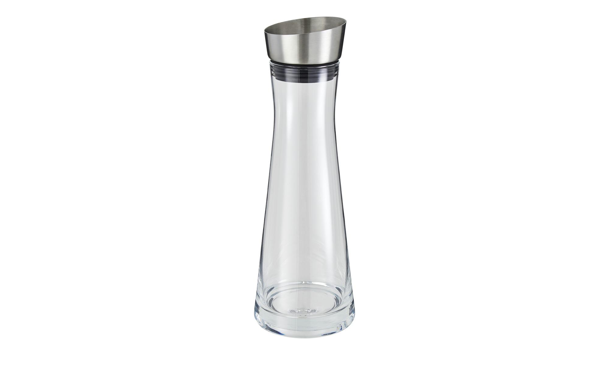 Silikon, blomus SPLASH Wasserkaraffe Magnet Glas klar Edelstahl poliert