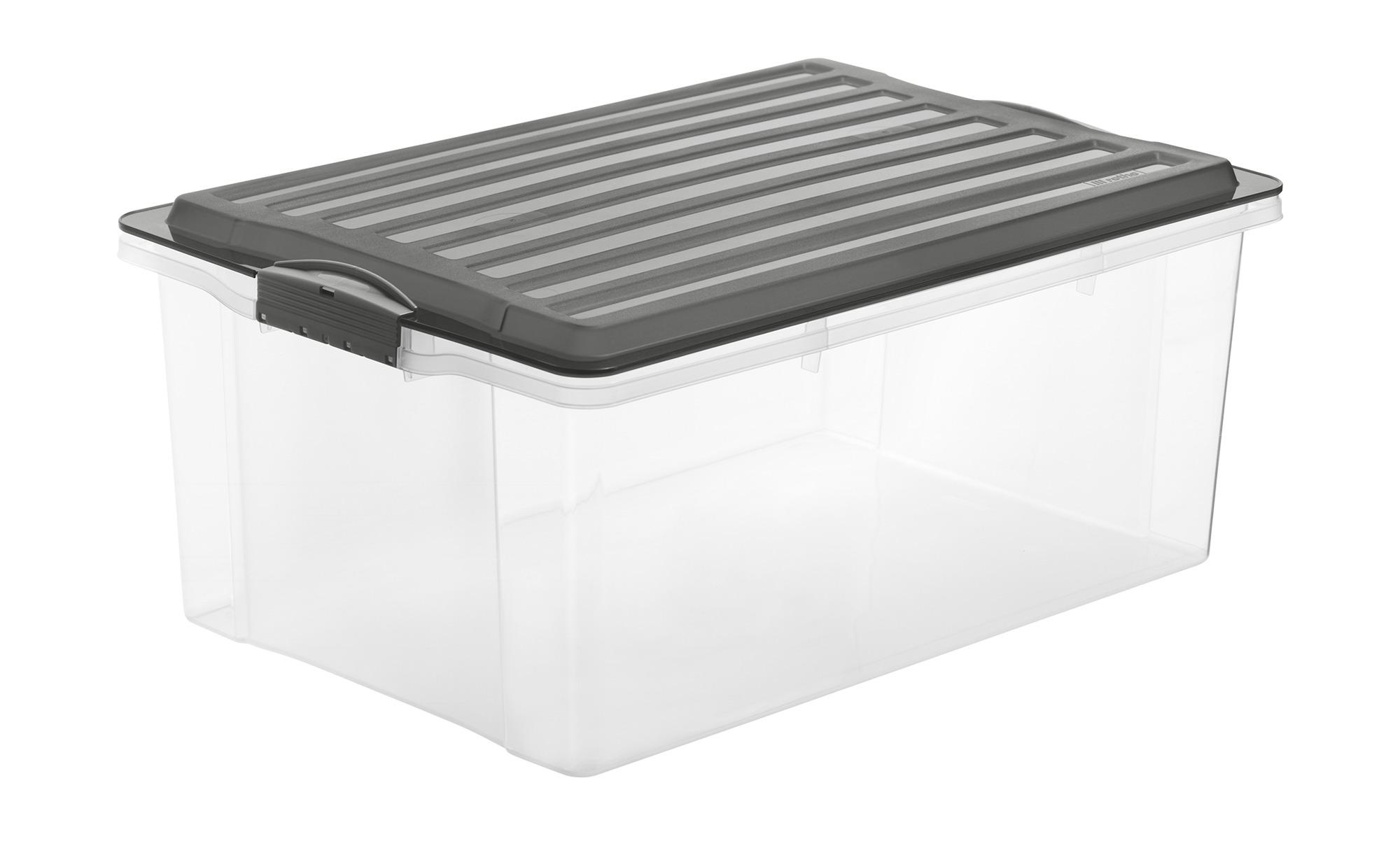 Rotho Aufbewahrungsbox mit Deckel ¦ grau ¦ Kunststoff Regale > Regal-Aufbewahrungsboxen - Höffner