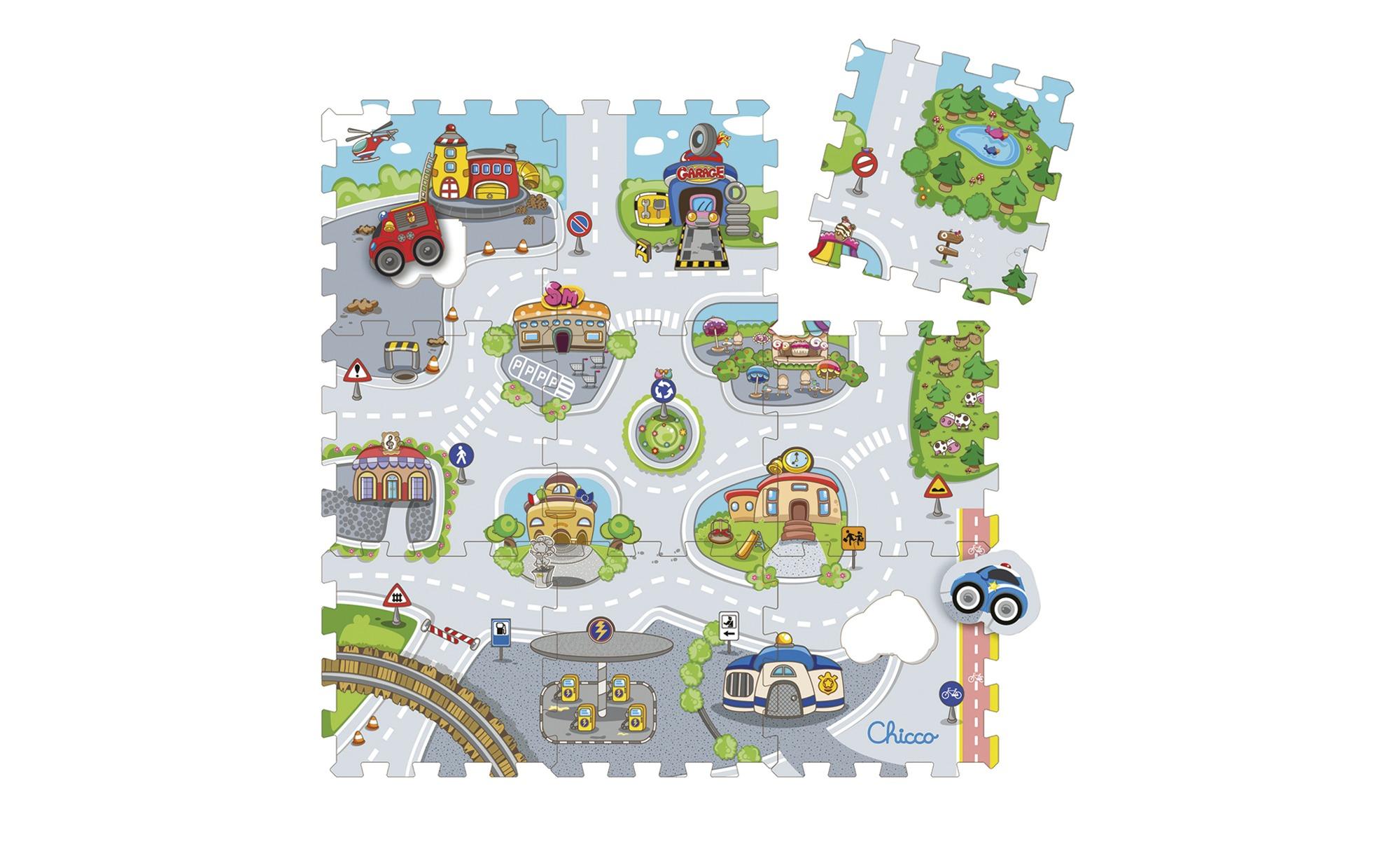 Chicco Puzzelmatte  City ¦ mehrfarbig ¦ PE -Schaumstoff , Oberfläche: Siebdruckschicht  ¦ Maße (cm): B: 93 H: 1 Teppiche > Kinderteppiche - Höffner | Kinderzimmer > Textilien für Kinder > Kinderteppiche | Möbel Höffner DE