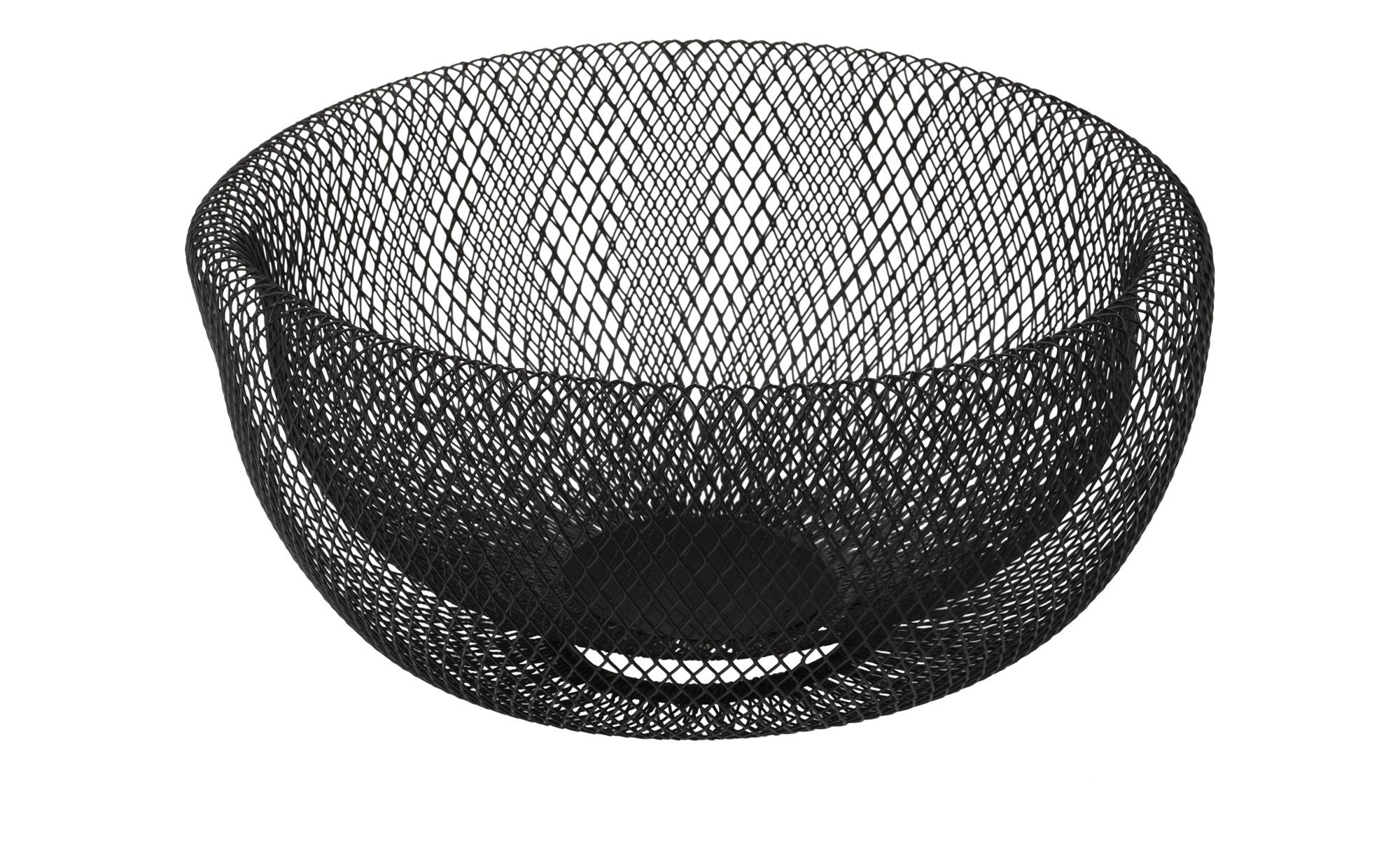 Korb Gitter ¦ schwarz ¦ Maße (cm): H: 12,5 Ø: [24.5] Dekoration > Deko-Schalen - Höffner | Dekoration > Aufbewahrung und Ordnung | Schwarz | Möbel Höffner DE
