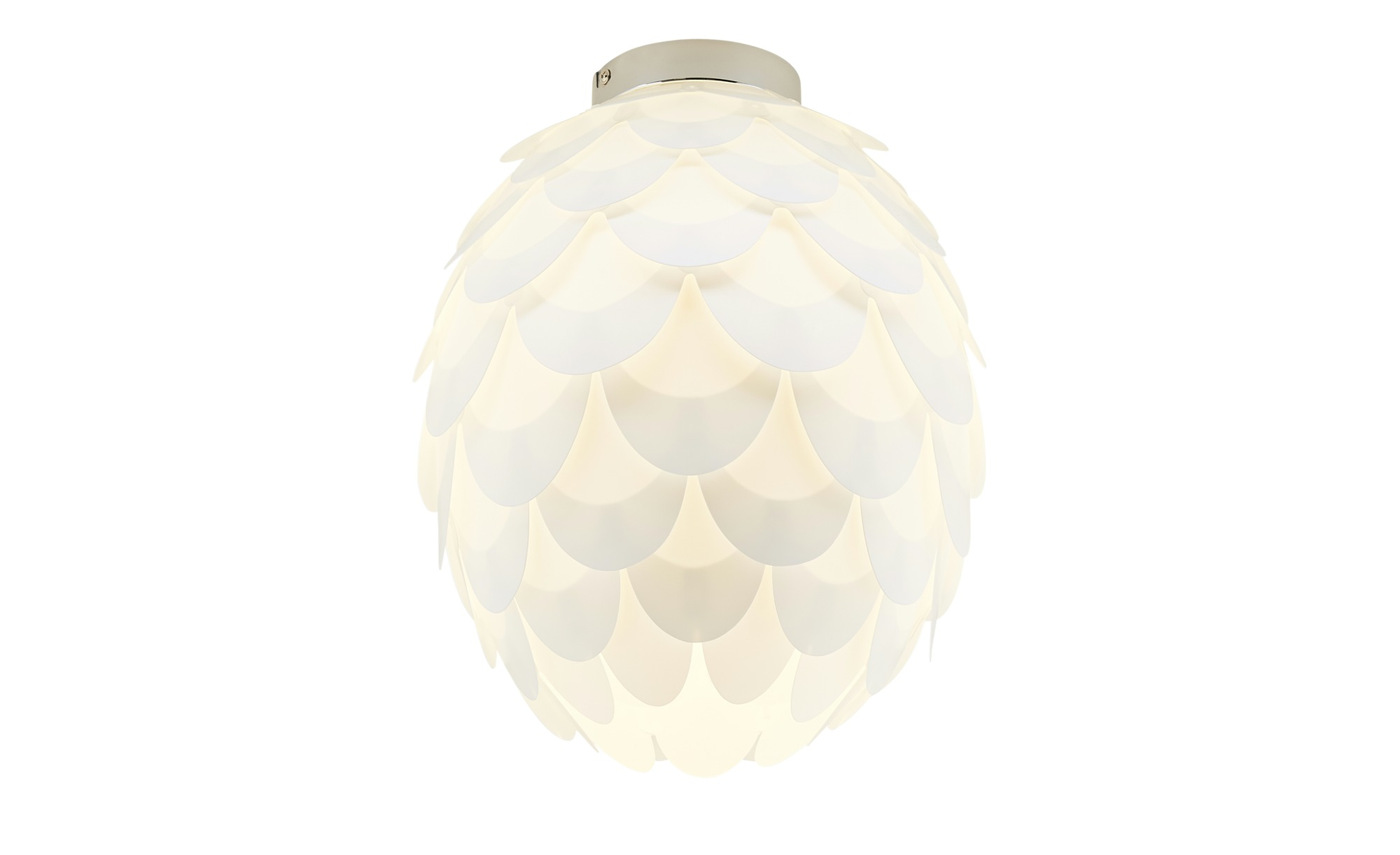 Deckenleuchte, 1-flammig, Weiß ¦ weiß ¦ Maße (cm): H: 36 Ø: [30.0] Lampen & Leuchten > Innenleuchten > Deckenleuchten - Höffner