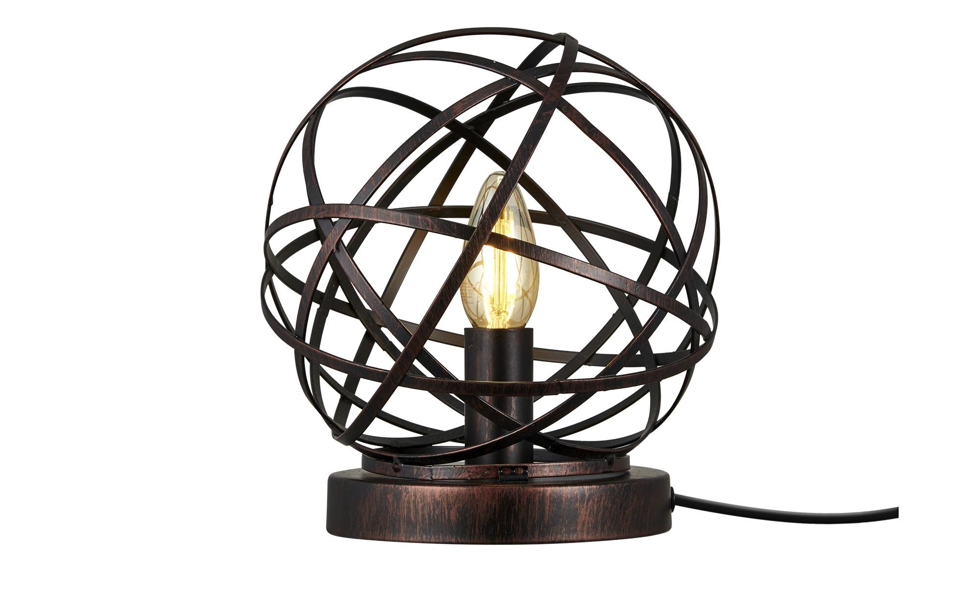 Tischleuchte, 1-flammig, Drahtgeflecht ¦ schwarzØ: [20.0] Lampen & Leuchten > Innenleuchten > Tischlampen - Höffner