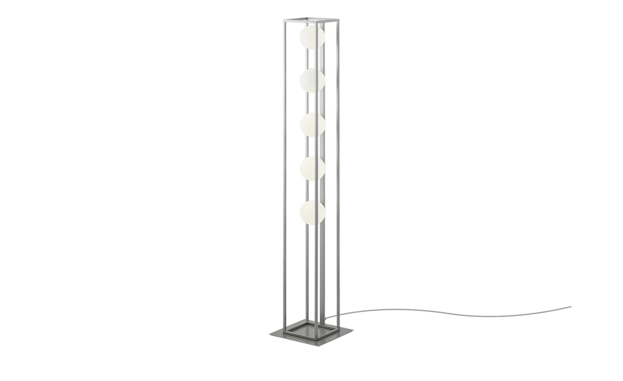 Wofi Stehleuchte, 5-flammig, Nickel matt ¦ silber ¦ Maße (cm): B: 24 H: 130,6 Lampen & Leuchten > Innenleuchten > Stehlampen - Höffner