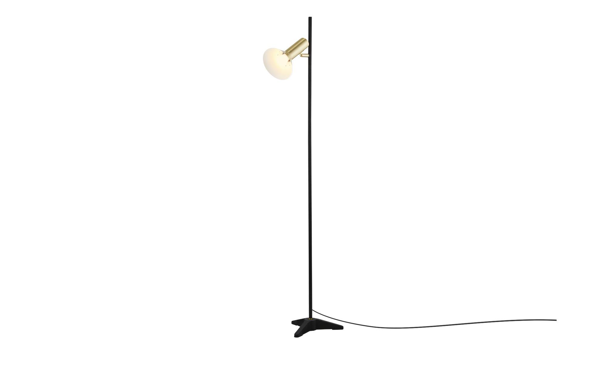 Wofi Stehleuchte, 1-flammig, schwarz / goldfarben ¦ schwarz ¦ Maße (cm): B: 35 H: 140 T: 30 Lampen & Leuchten > Innenleuchten > Stehlampen - Höffner