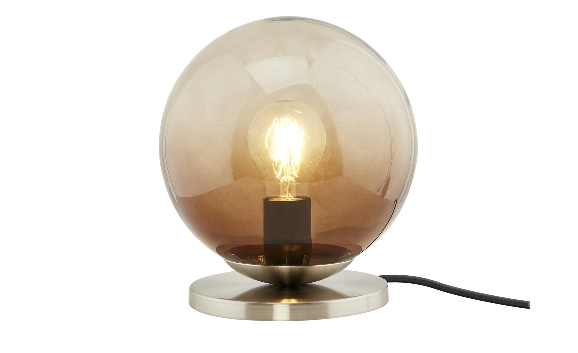 Tischleuchte, 1-flammig ¦ silber ¦ Maße (cm): H: 22,3 Ø: [20.0] Lampen & Leuchten > Innenleuchten > Tischlampen - Höffner