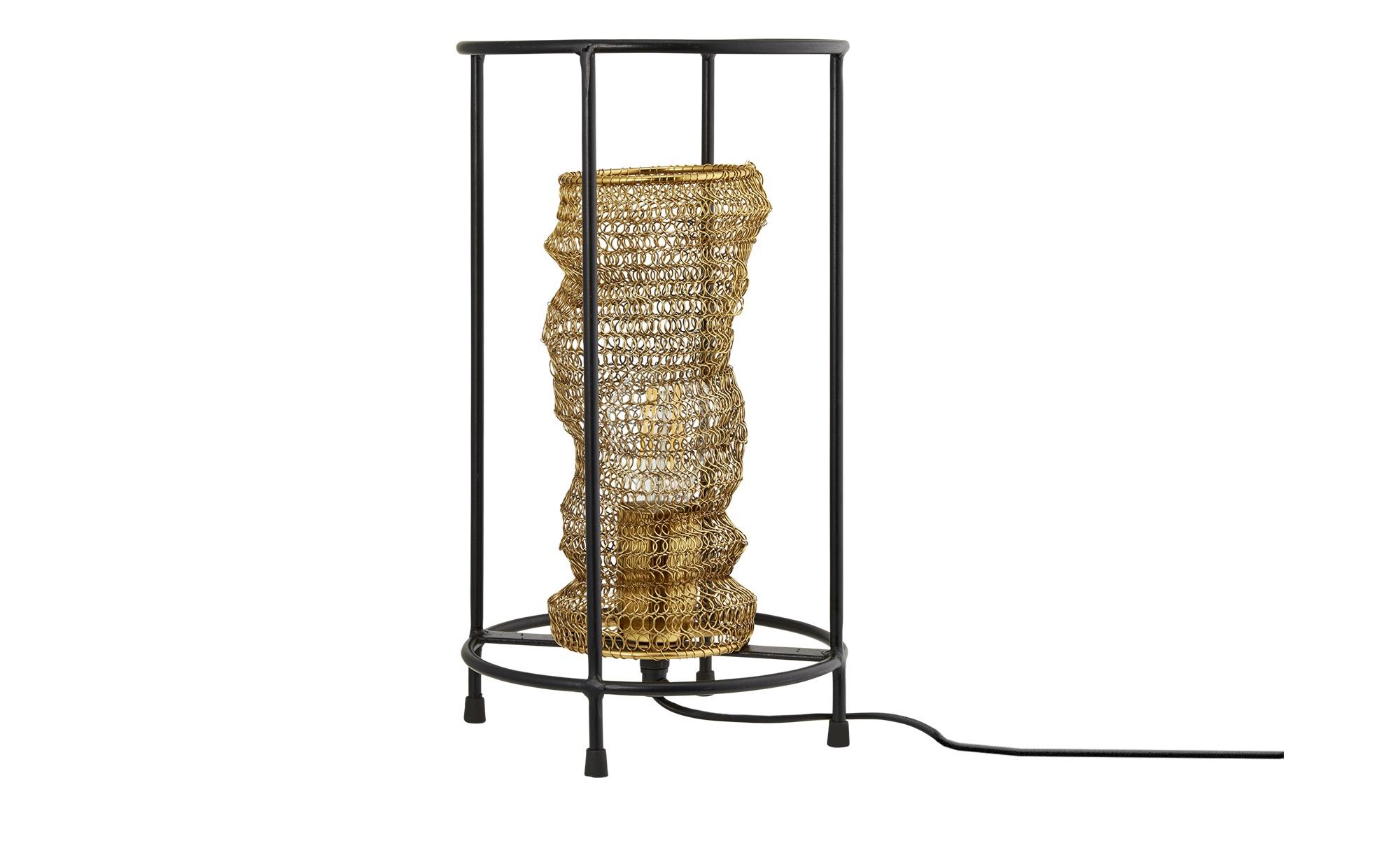 Fischer-Honsel Tischleuchte, Fischernetz-Optik ¦ gold ¦ Maße (cm): H: 36 Ø: 20 Lampen & Leuchten > Innenleuchten > Tischlampen - Höffner