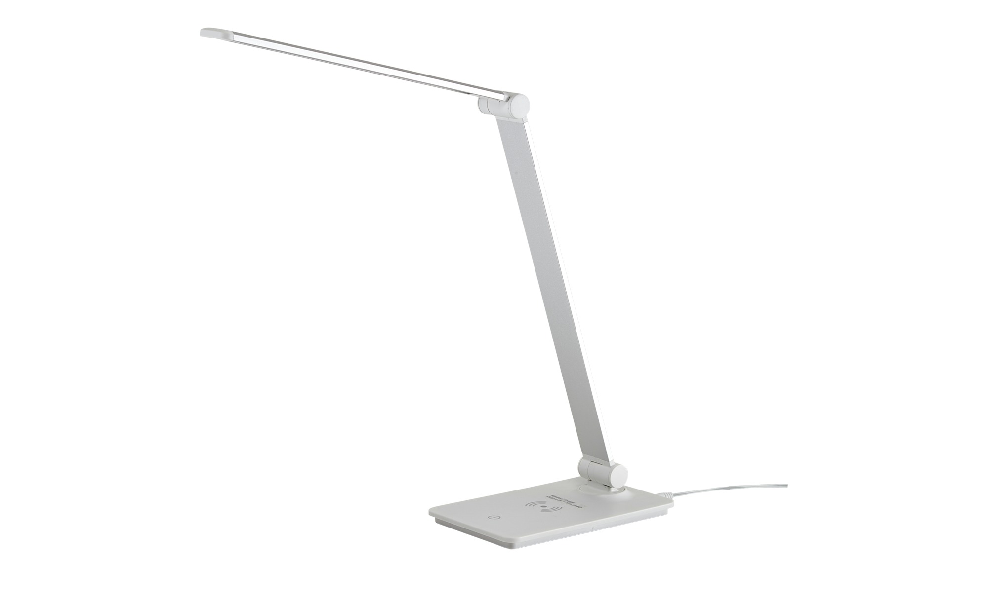 KHG LED-Tischleuchte, weiß mit Qi-Charger ¦ weiß ¦ Maße (cm): B: 11 H: 37 Lampen & Leuchten > Innenleuchten > Tischlampen - Höffner