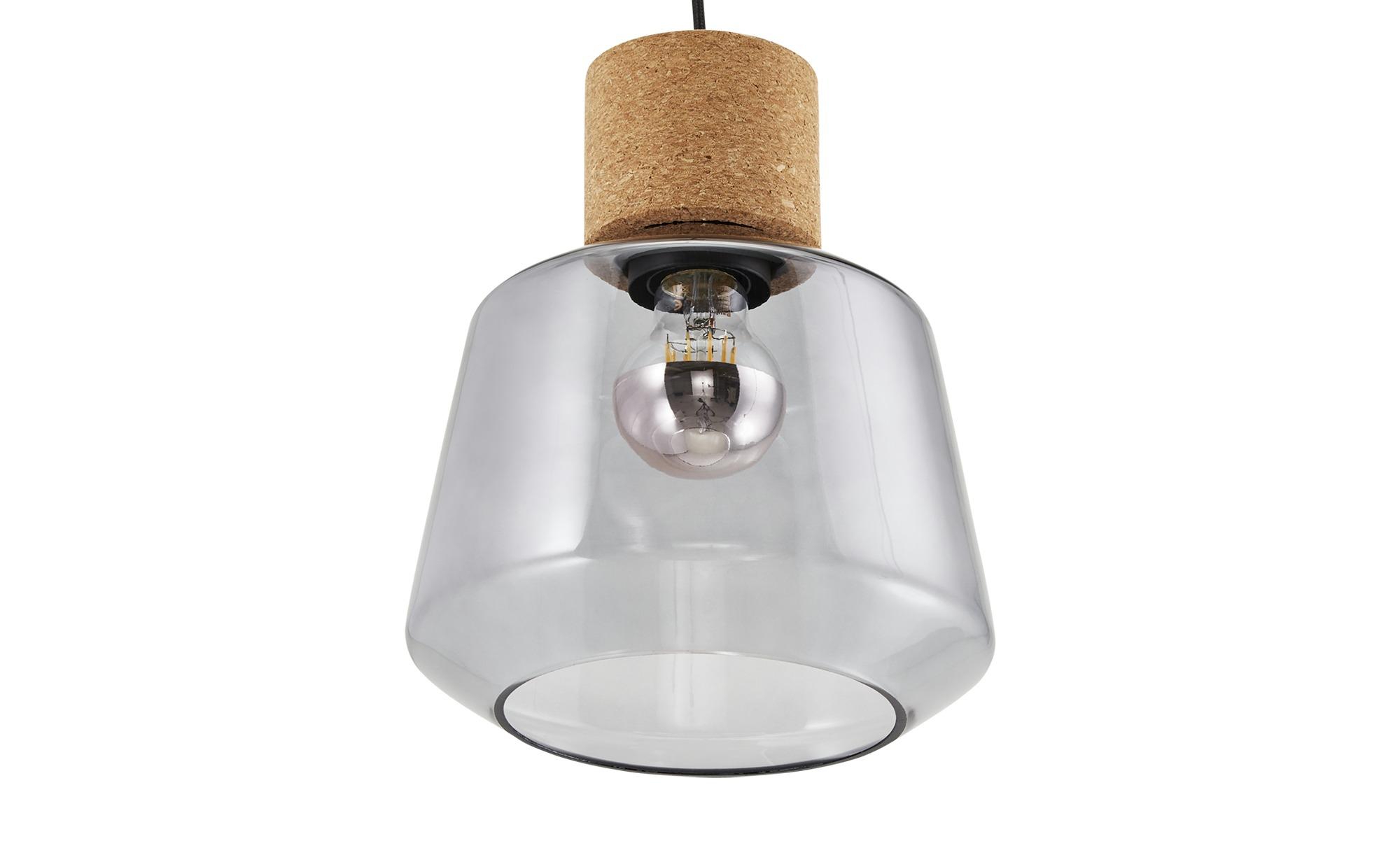 Pendelleuchte, 1-flammig, Rauchglas ¦ schwarz ¦ Maße (cm): H: 150 Ø: [20.8] Lampen & Leuchten > Innenleuchten > Pendelleuchten - Höffner
