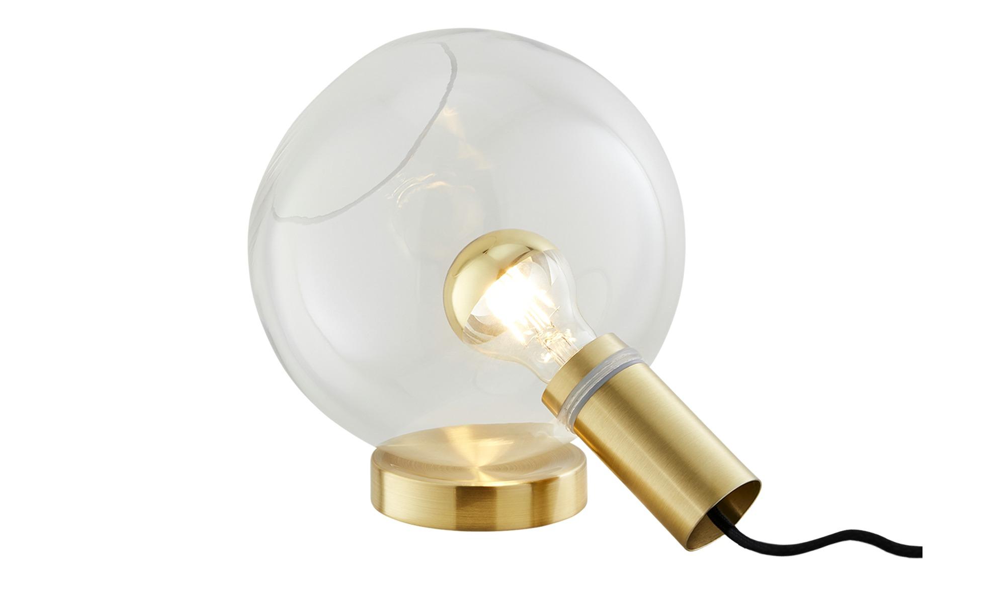Tischleuchte, 1-flammig, Messing matt ¦ gold ¦ Maße (cm): B: 25 H: 21,8 T: 20 Lampen & Leuchten > Innenleuchten > Tischlampen - Höffner