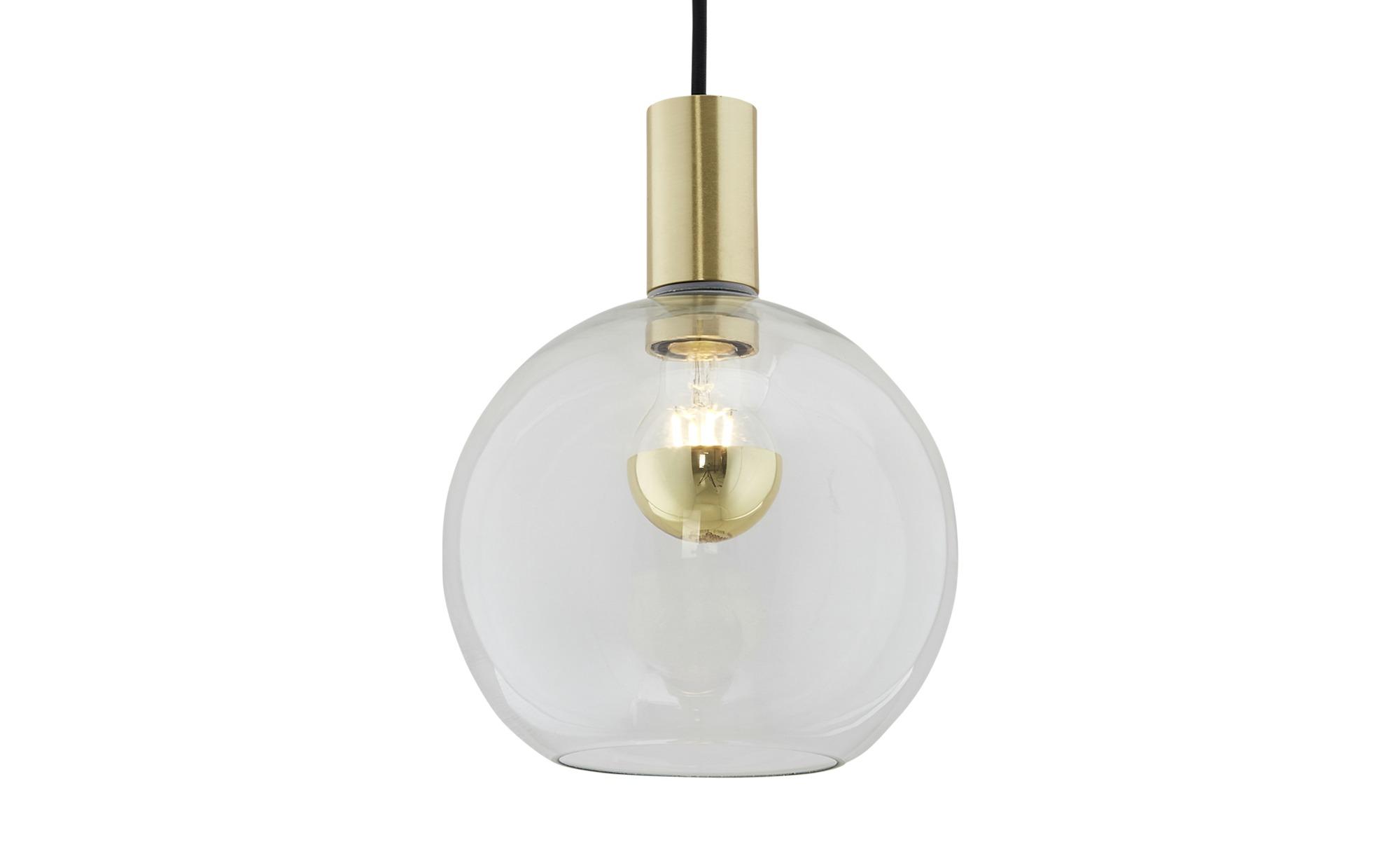 Pendelleuchte, 1-flammig messing-matt ¦ gold ¦ Maße (cm): H: 178 Ø: [20.0] Lampen & Leuchten > Innenleuchten > Pendelleuchten - Höffner