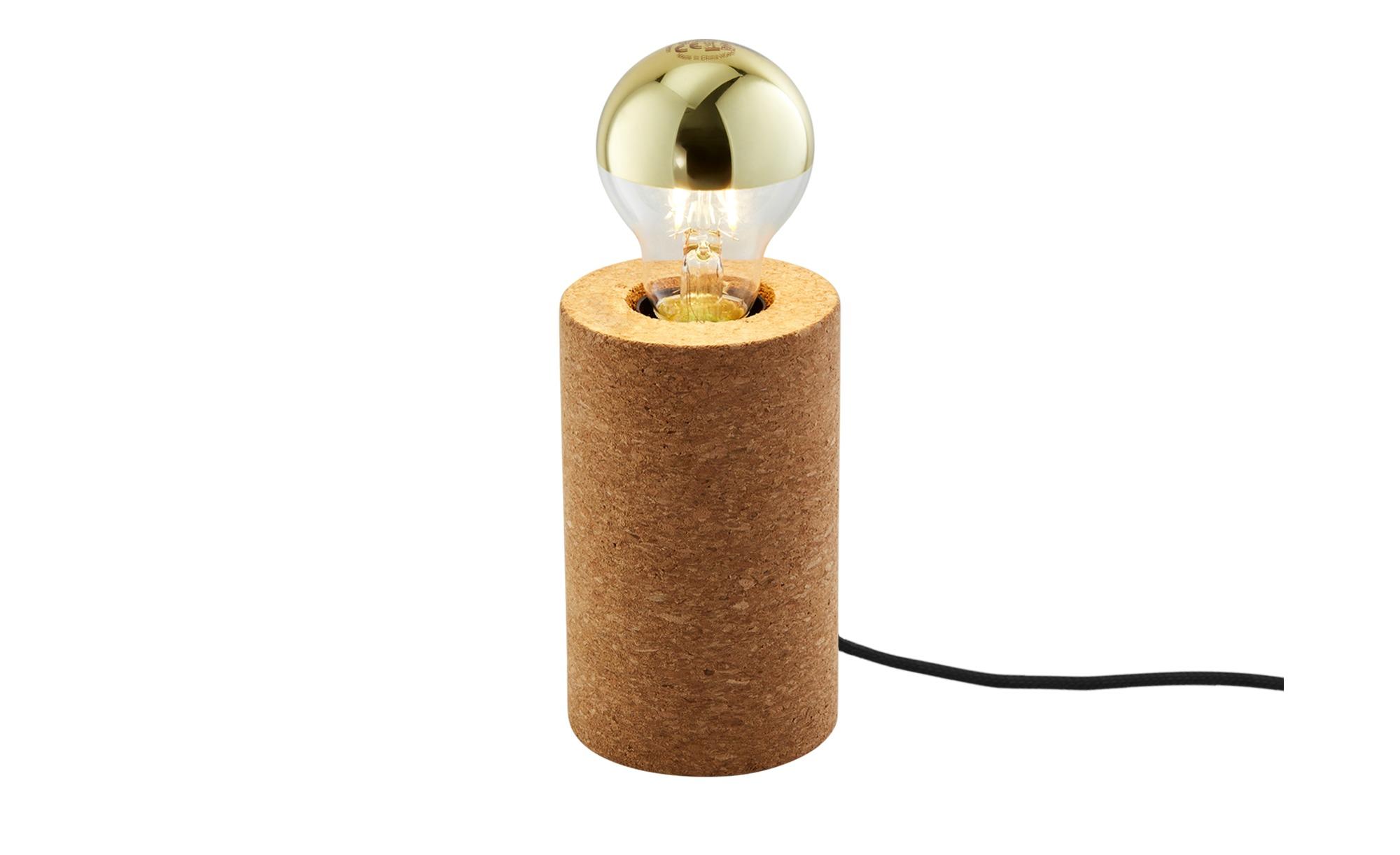 Tischleuchte, 1-flammig, Kork ¦ braun ¦ Maße (cm): H: 13 Ø: 8 Lampen & Leuchten > Innenleuchten > Tischlampen - Höffner
