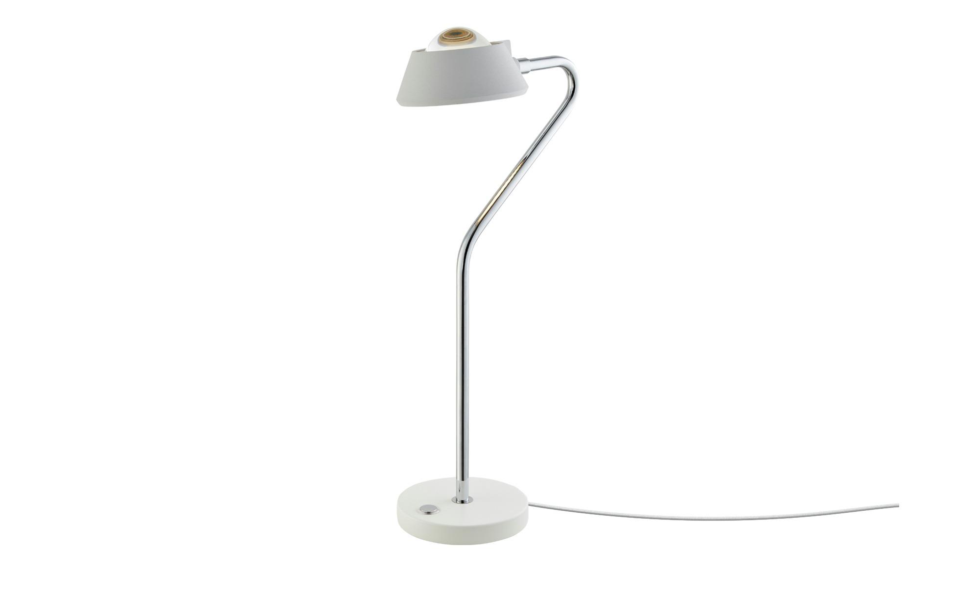 LED-Tischleuchte, Weiß ¦ weiß ¦ Maße (cm): H: 44 Ø: 12 Lampen & Leuchten > Innenleuchten > Tischlampen - Höffner