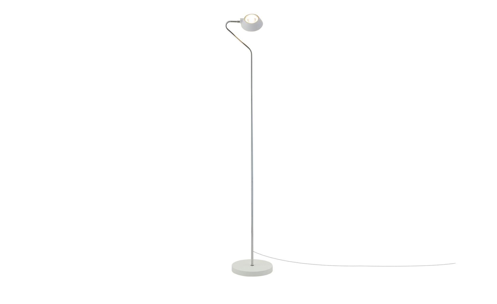 LED-Stehleuchte, 1-flammig ¦ weiß ¦ Maße (cm): H: 141,5 Ø: [22.6] Lampen & Leuchten > Innenleuchten > Stehlampen - Höffner