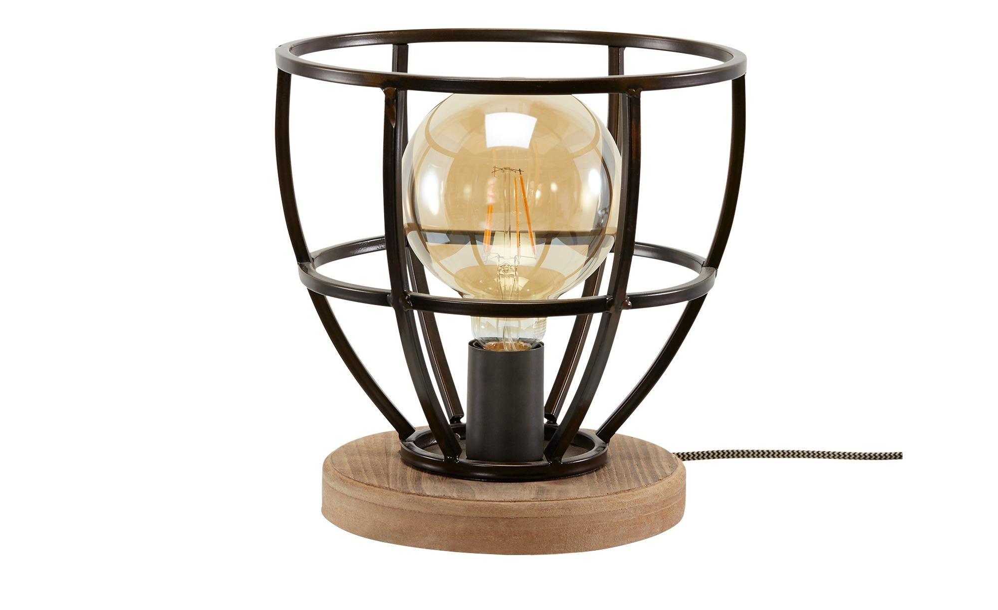 Tischleuchte, 1-flammig, Metallkorb schwarz ¦ schwarz ¦ Maße (cm): H: 25 Lampen & Leuchten > Innenleuchten > Tischlampen - Höffner