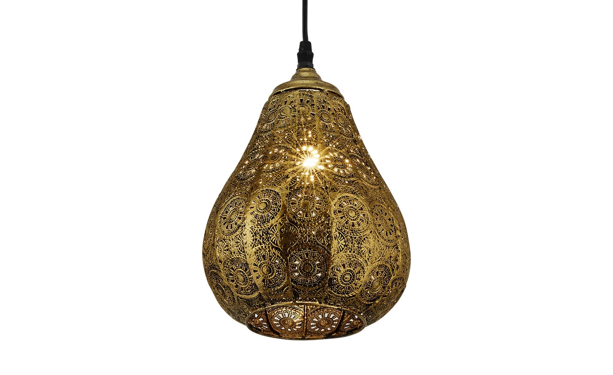 Trio Pendelleuchte, 1-flammig, Altmessing ¦ gold ¦ Maße (cm): H: 150 Ø: 19 Lampen & Leuchten > Innenleuchten > Pendelleuchten - Höffner