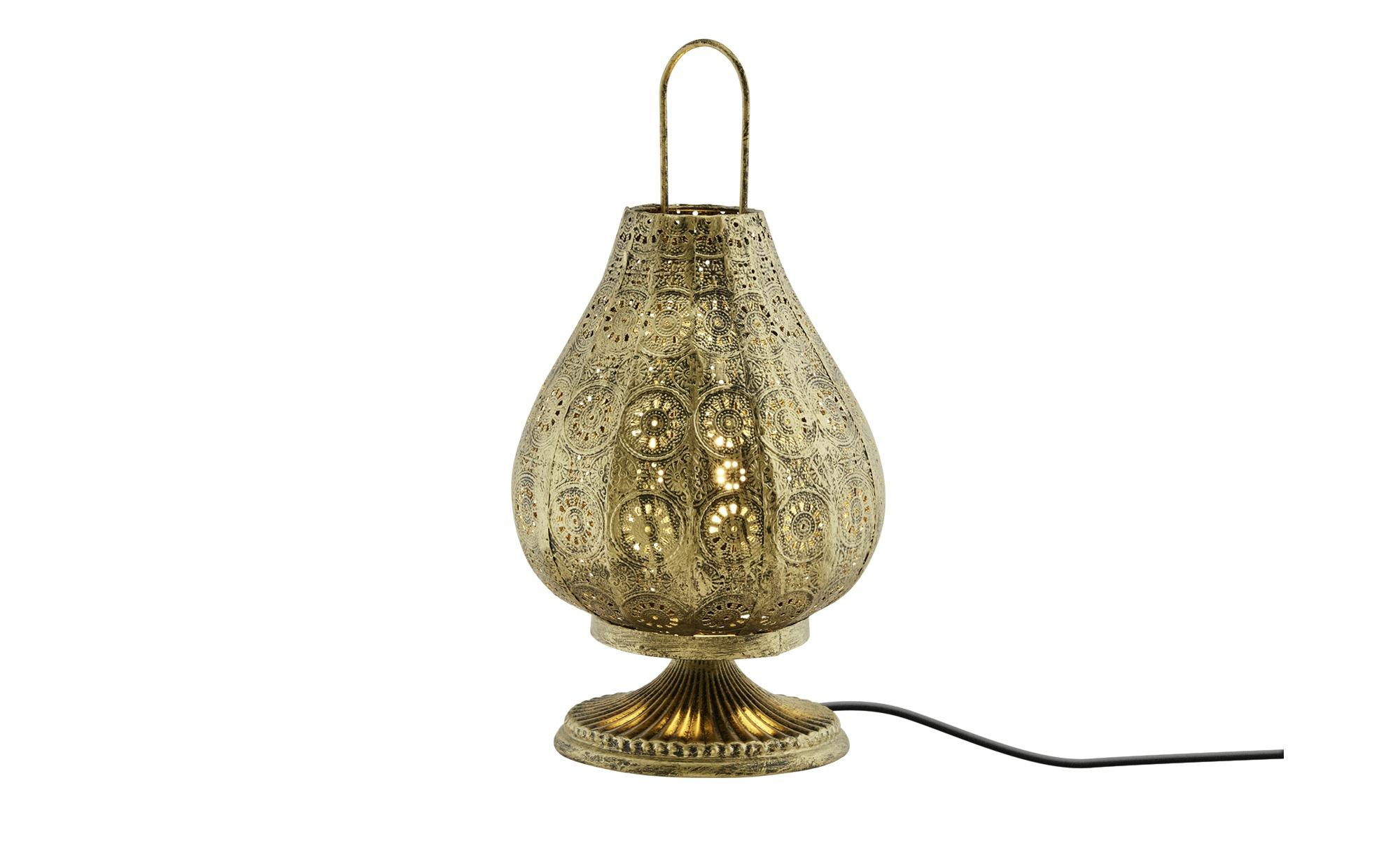 Trio Tischleuchte, 1-flammig ¦ gold ¦ Maße (cm): H: 36 Ø: 18.7 Lampen & Leuchten > Innenleuchten > Tischlampen - Höffner