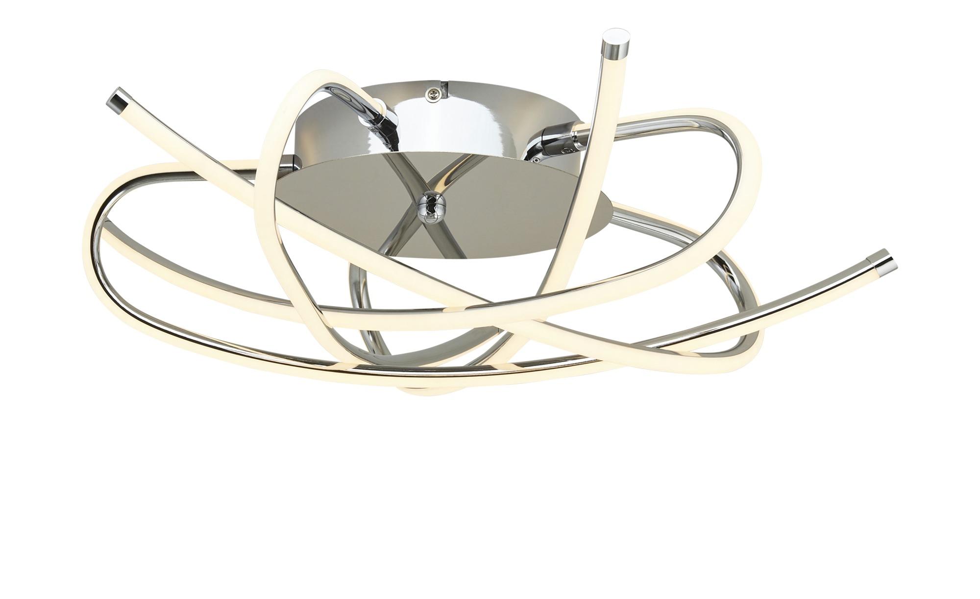 KHG LED-Deckenleuchte, 5-flammig, Chrom ¦ silber ¦ Maße (cm): H: 14 Ø: [52.0] Lampen & Leuchten > Innenleuchten > Deckenleuchten - Höffner