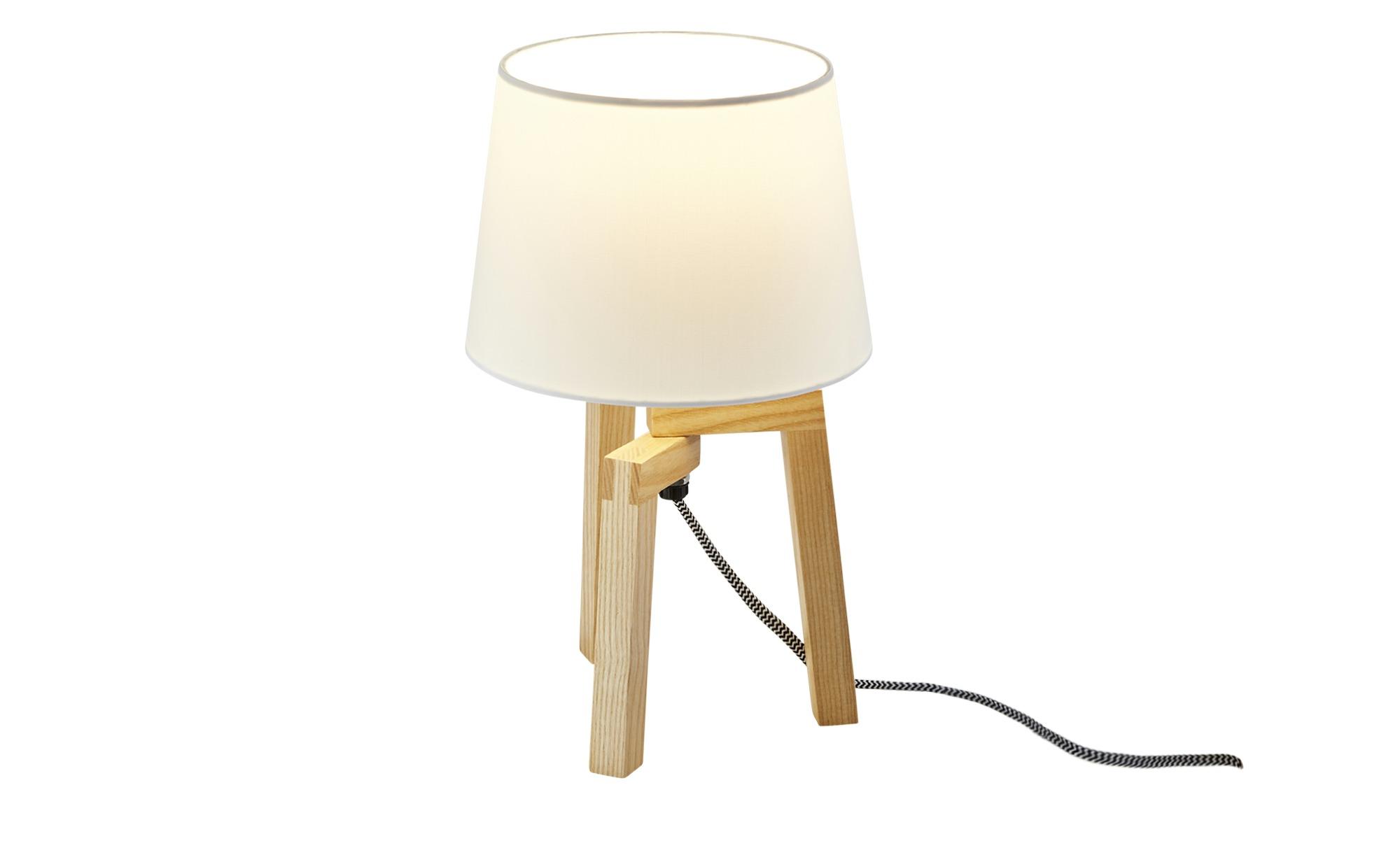 Tischleuchte, 1-flammig ¦ braun ¦ Maße (cm): H: 30 Ø: [17.0] Lampen & Leuchten > Innenleuchten > Tischlampen - Höffner