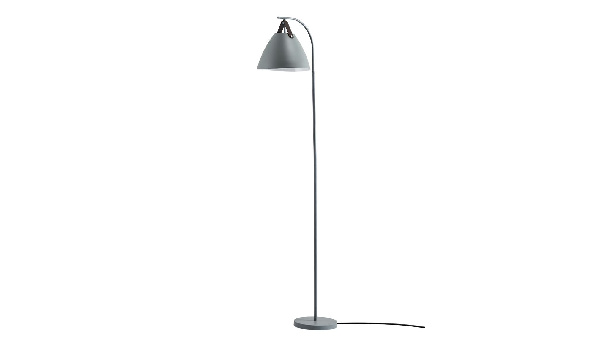 HOME STORY Stehleuchte, 1-flammig ¦ grau ¦ Maße (cm): B: 36 H: 160 Lampen & Leuchten > Innenleuchten > Stehlampen - Höffner