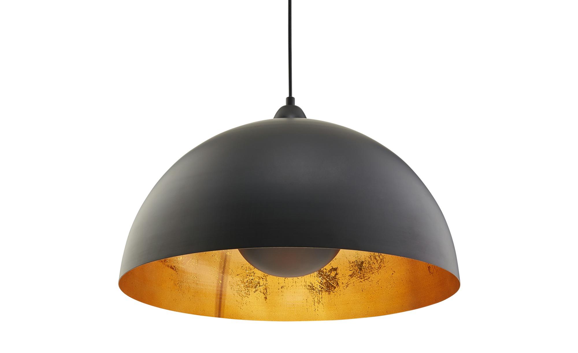 KHG Pendelleuchte, 1-flammig, schwarz/gold ¦ schwarz ¦ Maße (cm): H: 150 Ø: [50.0] Lampen & Leuchten > Innenleuchten > Pendelleuchten - Höffner