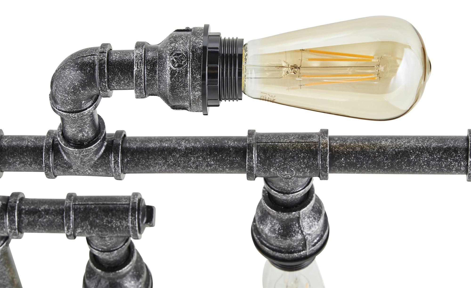 HOME STORY Decken-/ Wandleuchte, 5-flammig  Pipe ¦ schwarz ¦ Maße (cm): B: 40 H: 13,5 Lampen & Leuchten > Innenleuchten > Deckenleuchten - Höffner