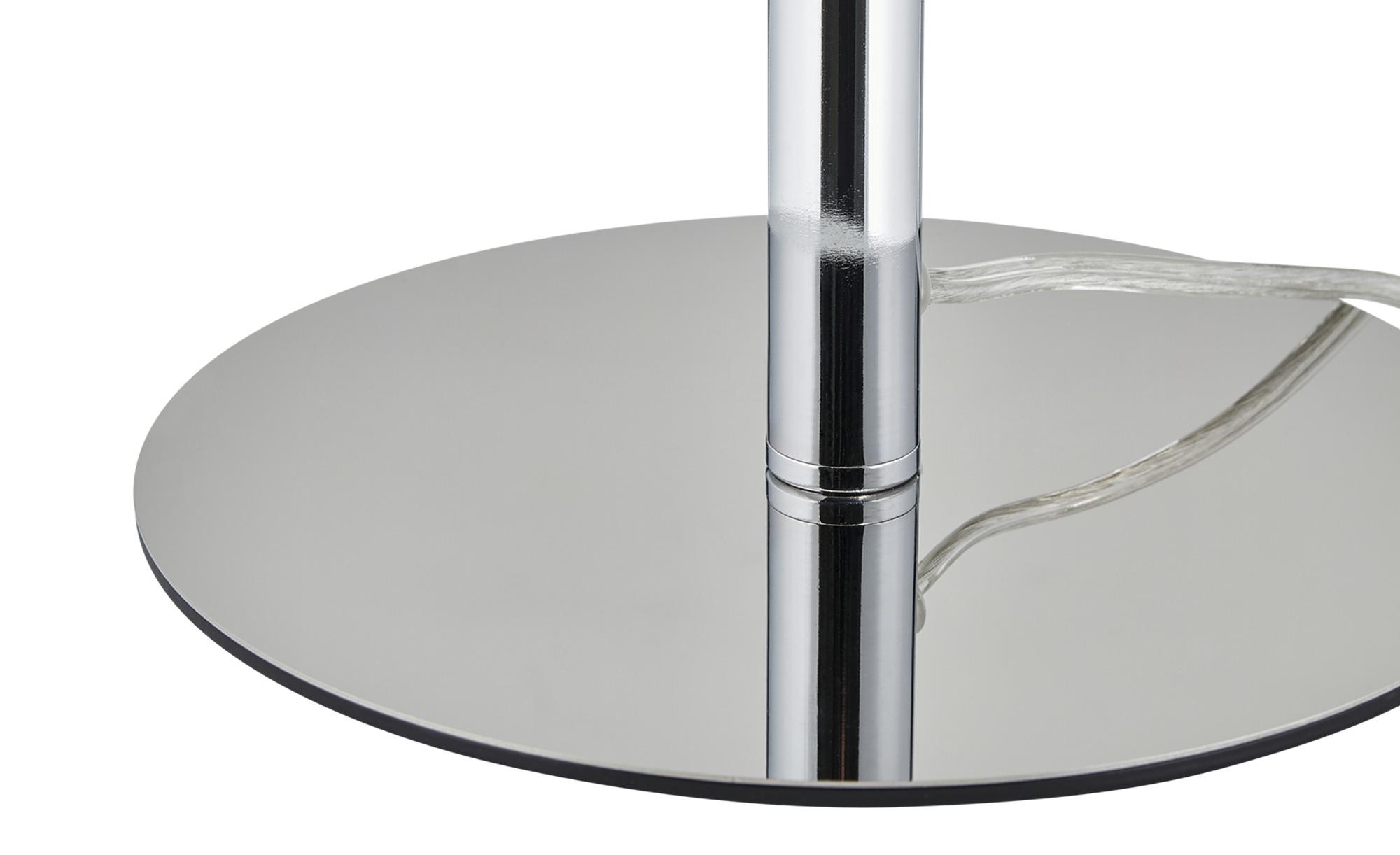 ML Tischleuchte, 1-flammig, Chrom, Glaskugel ¦ silber ¦ Maße (cm): B: 25 H: 47 Lampen & Leuchten > Innenleuchten > Tischlampen - Höffner
