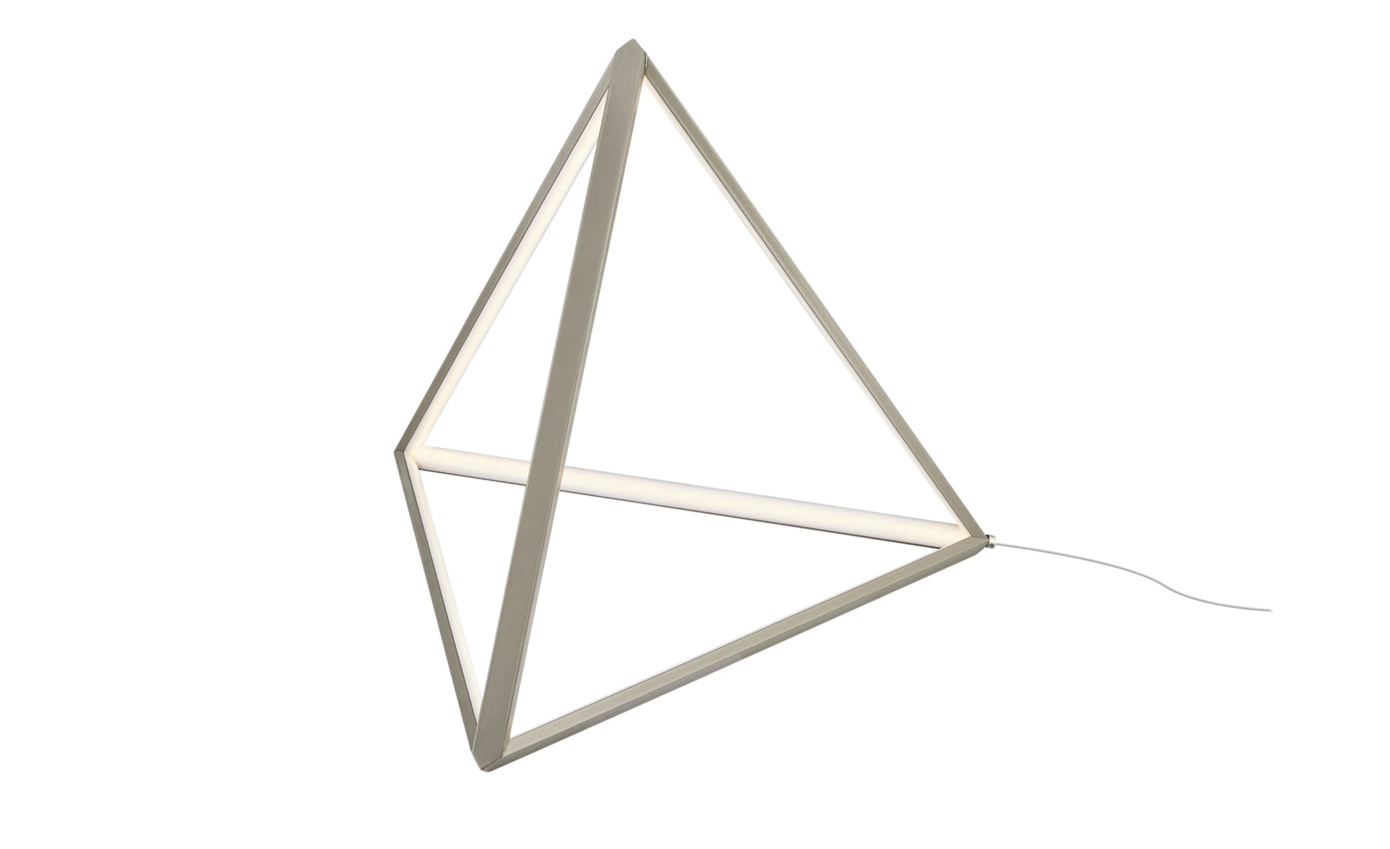 Meisterleuchten LED-Tischleuchte ´Pyramide` ¦ Aluminum ¦ Maße (cm): B: 42,5 H: 36 Lampen & Leuchten > Innenleuchten > Tischlampen - Höffner