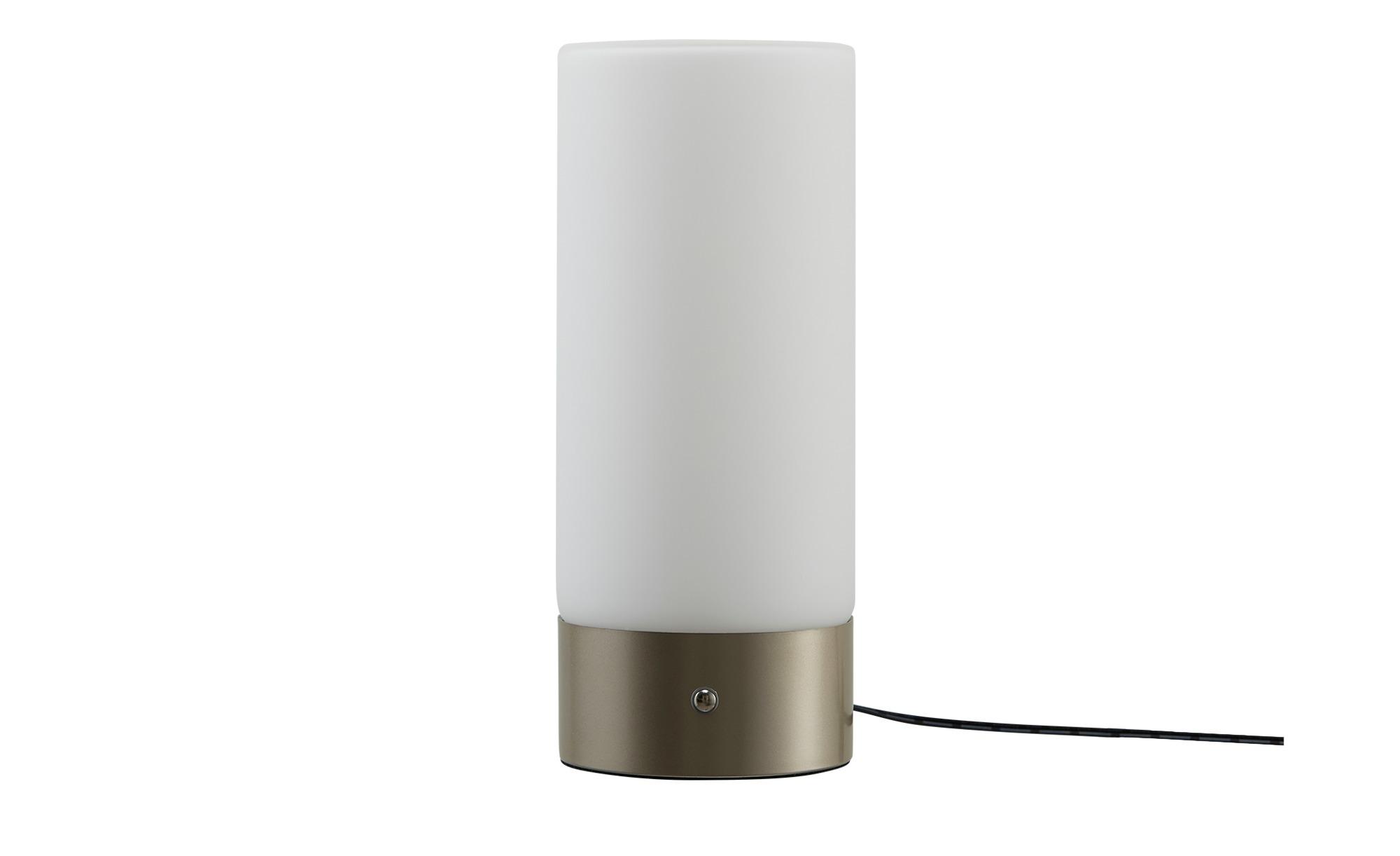 KHG LED-Tischleuchte, 1-flammig, Zylinderform ¦ silber ¦ Maße (cm): B: 10 H: 24 Lampen & Leuchten > Innenleuchten > Tischlampen - Höffner