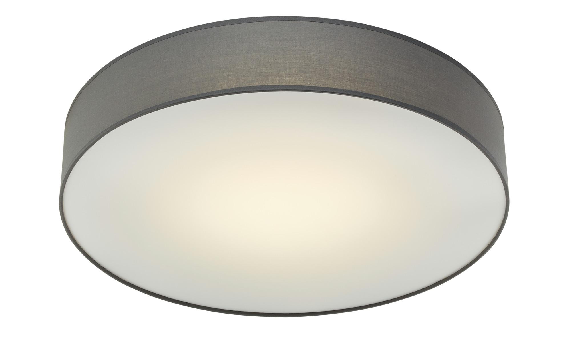 KHG LED-Deckenleuchte, mit Stoffschirm grau ¦ grau ¦ Maße (cm): H: 11 Ø: [60.0] Lampen & Leuchten > Innenleuchten > Deckenleuchten - Höffner