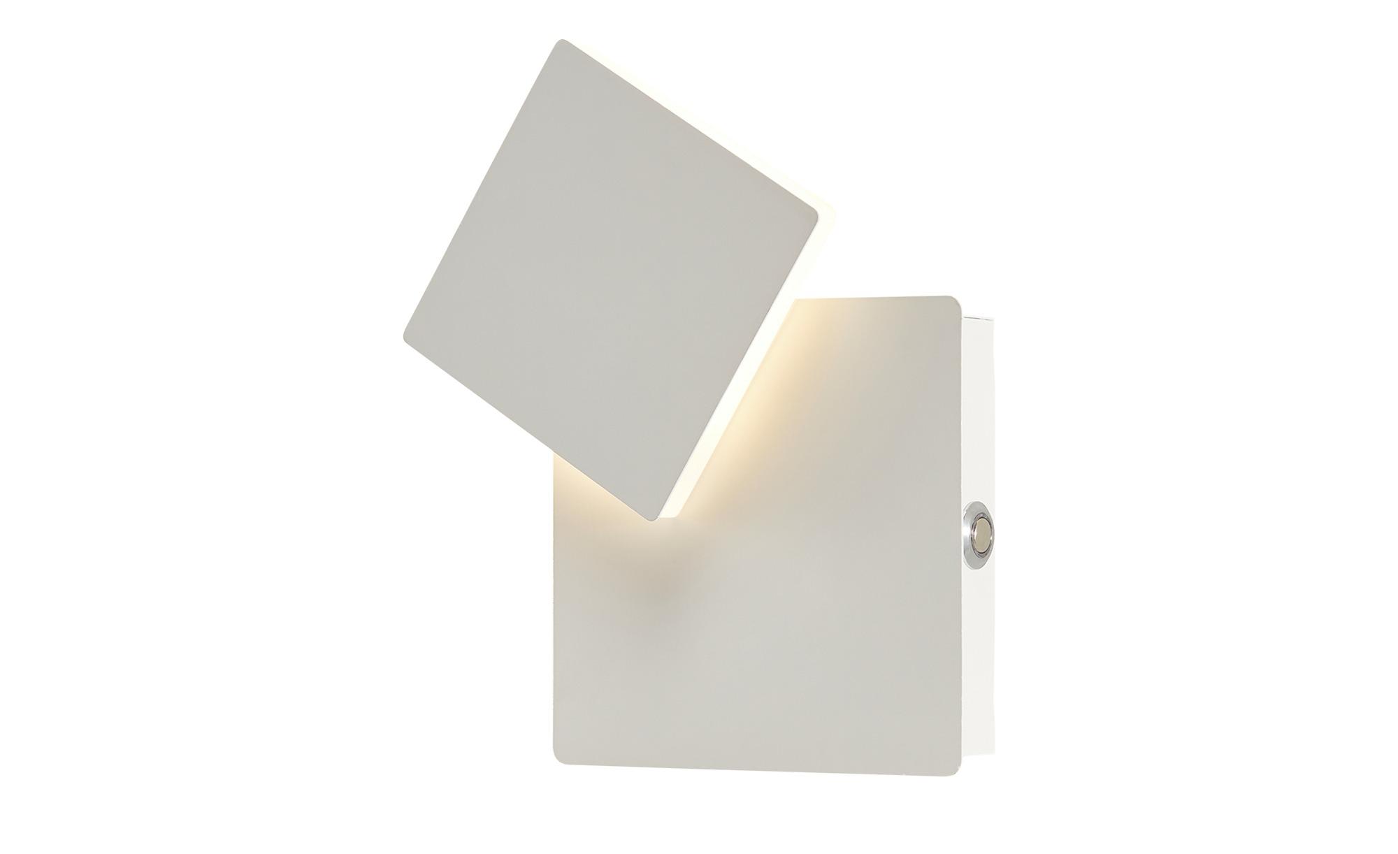 Meisterleuchten LED-Wandleuchte, weiß, eckig ¦ weiß ¦ Maße (cm): B: 13 H: 4,5 Lampen & Leuchten > Innenleuchten > Wandleuchten - Höffner