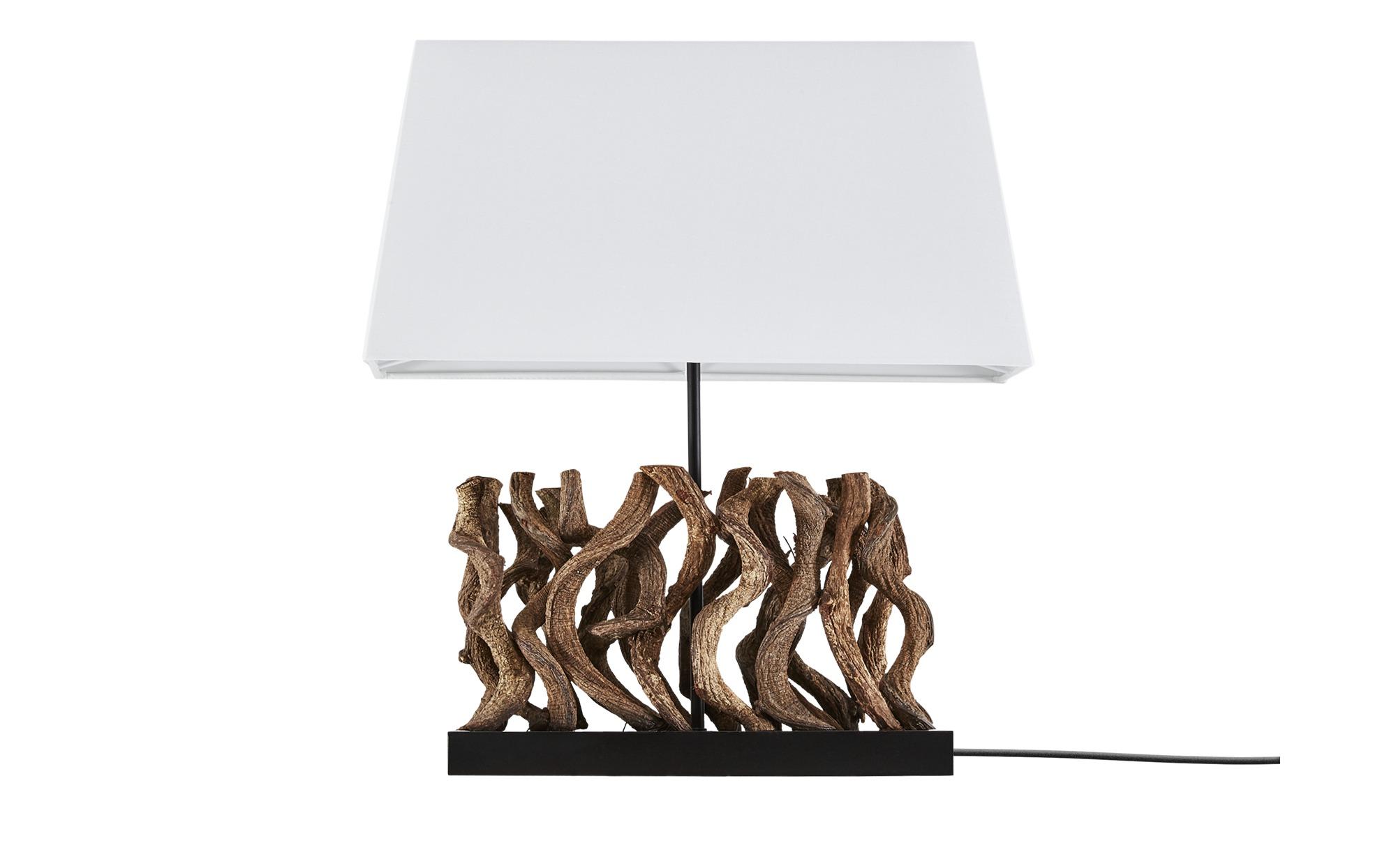 HOME STORY Tischleuchte, 1-flammig mit Holzdekor ¦ holzfarben ¦ Maße (cm): B: 20 H: 54 Lampen & Leuchten > Innenleuchten > Tischlampen - Höffner