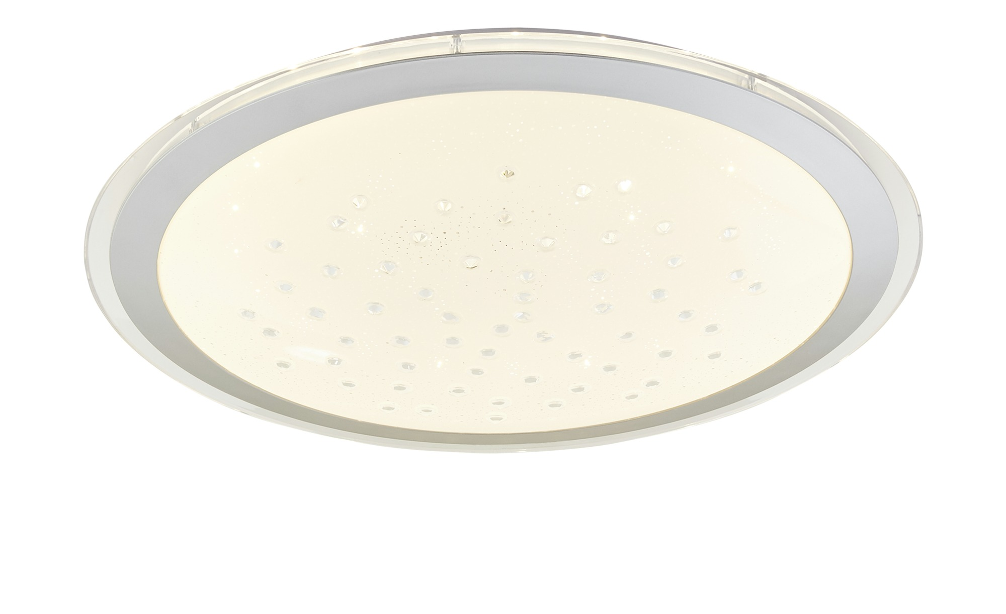 KHG LED-Deckenleuchte, 1-flammig, Schirm mit Glasperlen ¦ weiß ¦ Maße (cm): H: 11 Ø: 53 Lampen & Leuchten > Innenleuchten > Deckenleuchten - Höffner