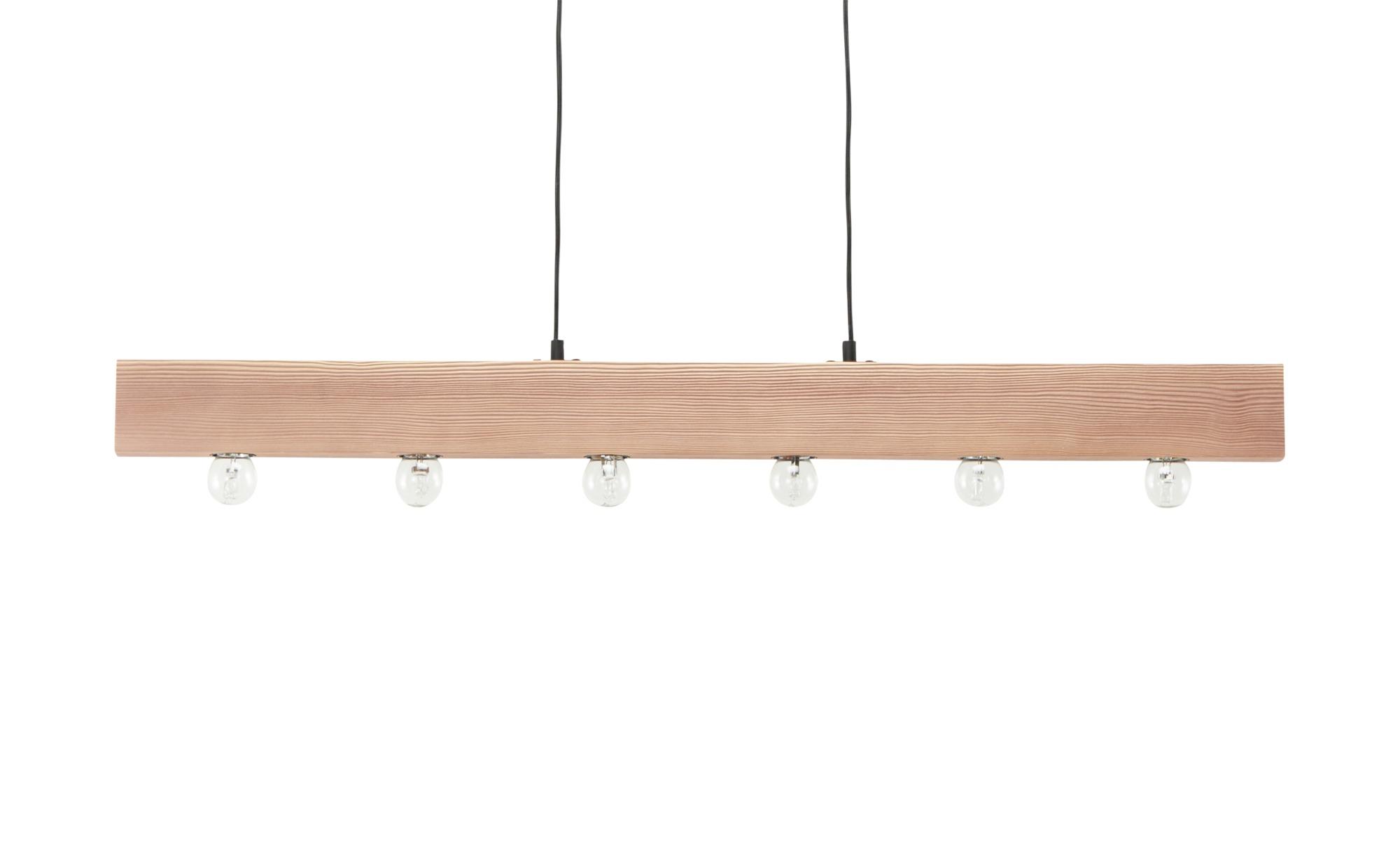 Holz-Pendelleuchte, 6-flammig ¦ holzfarben ¦ Maße (cm): B: 5 H: 8 Lampen & Leuchten > Innenleuchten > Pendelleuchten - Höffner