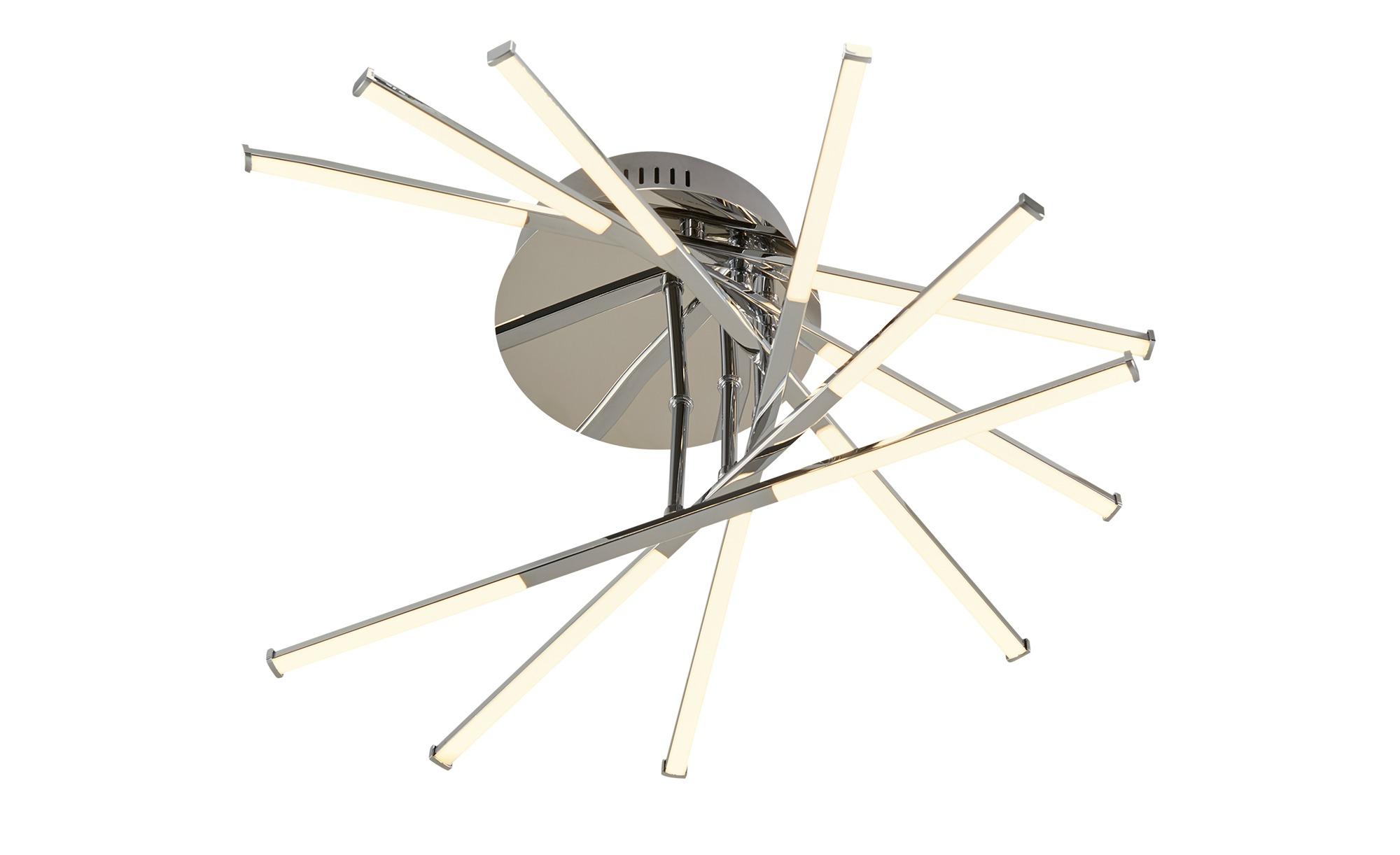 Meisterleuchten LED-Deckenleuchte, Stab-Design, chrom ¦ silber ¦ Maße (cm): H: 13,5 Ø: 58 Lampen & Leuchten > Innenleuchten > Deckenleuchten - Höffner