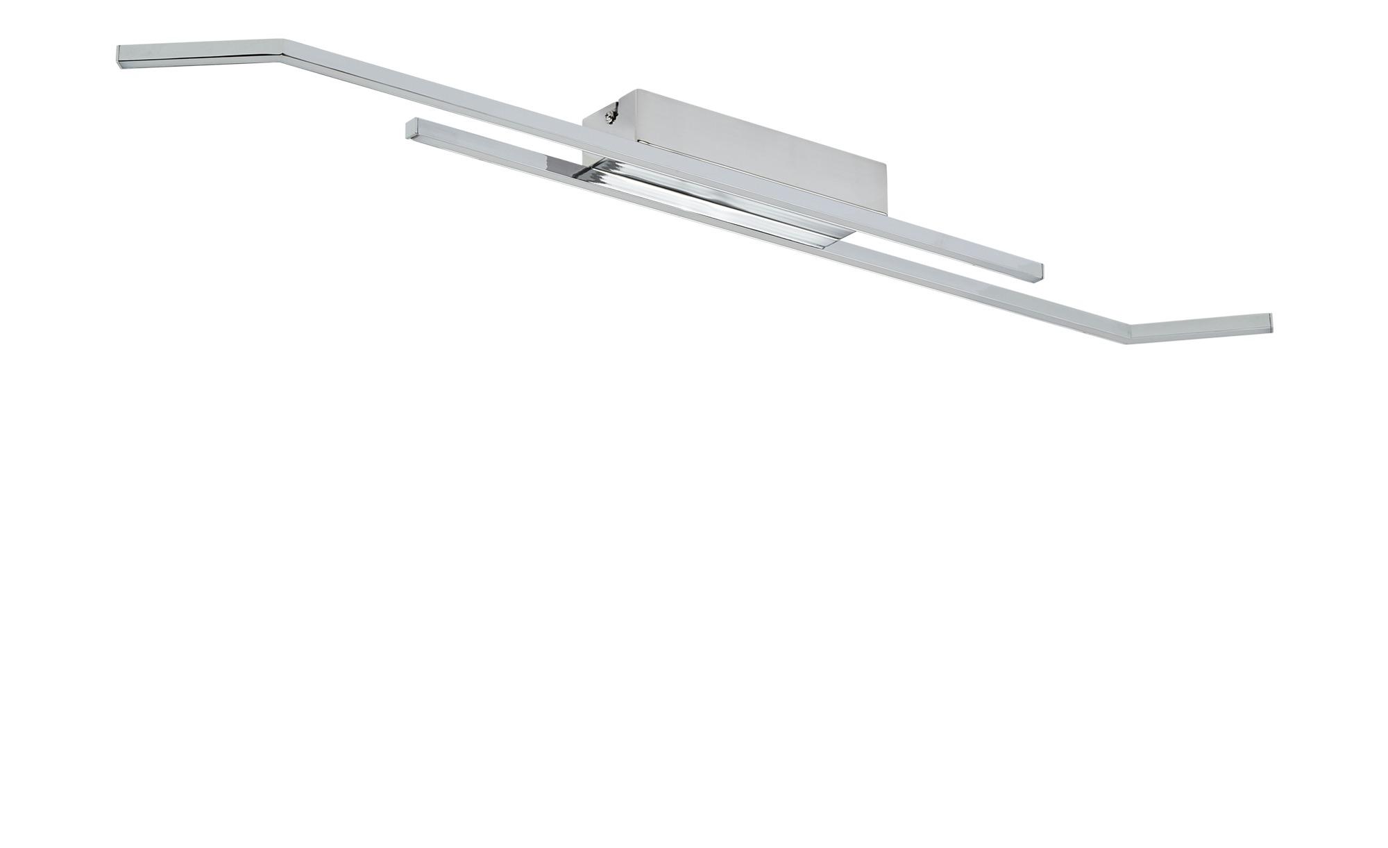 KHG LED-Deckenleuchte, 2-flammig, chrom ¦ silber ¦ Maße (cm): B: 10 H: 5,2 Lampen & Leuchten > Innenleuchten > Deckenleuchten - Höffner