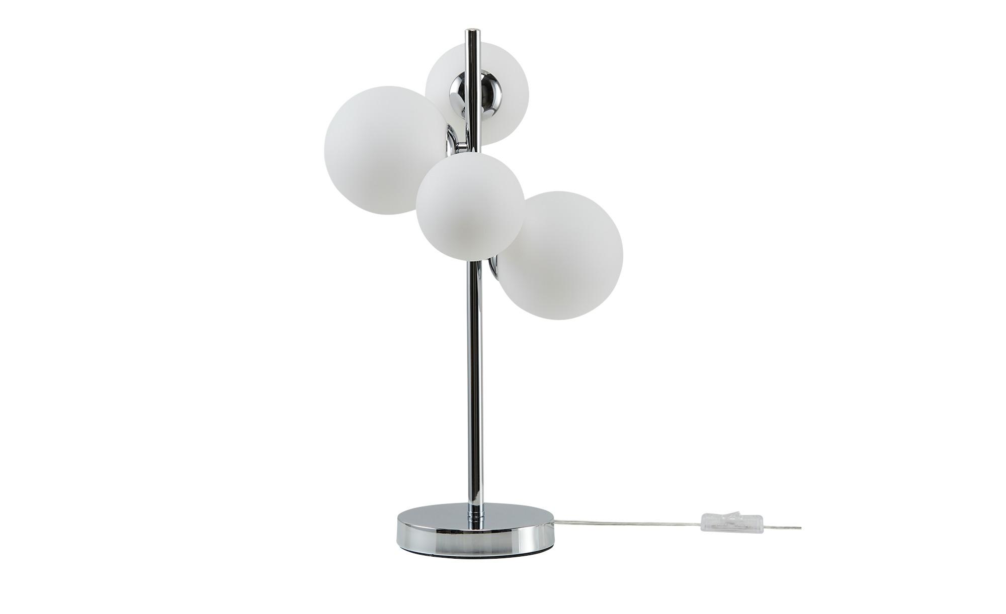 Meisterleuchten Tischleuchte, 3-flammig, mit Glaskugeln ¦ silber ¦ Maße (cm): B: 27,5 H: 48 Lampen & Leuchten > Innenleuchten > Tischlampen - Höffner