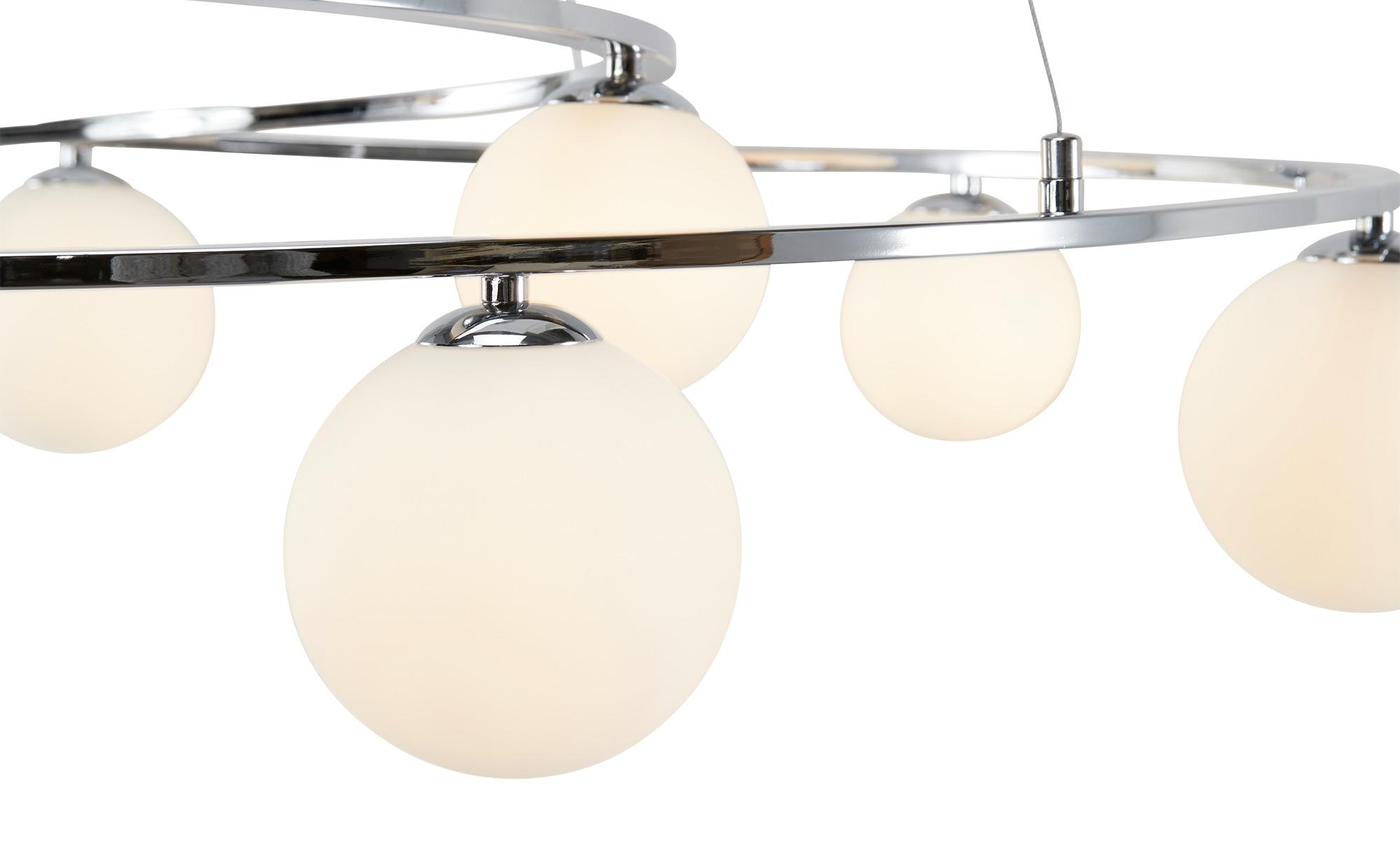Meisterleuchten Pendelleuchte, 8-flammig, mit Glaskugeln ¦ silber ¦ Maße (cm): B: 82 H: 150 Lampen & Leuchten > LED-Leuchten > LED-Pendelleuchten - Höffner