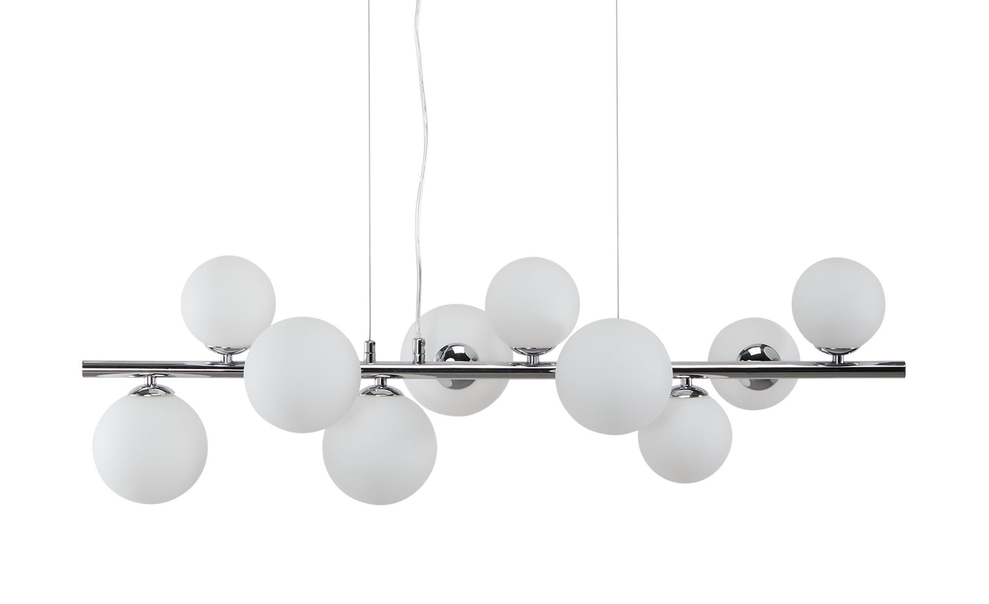 Meisterleuchten Pendelleuchte, 10-flammig, ´gerade´mit Glaskugeln ¦ silber ¦ Maße (cm): B: 29 H: 120 Lampen & Leuchten > LED-Leuchten > LED-Pendelleuchten - Höffner