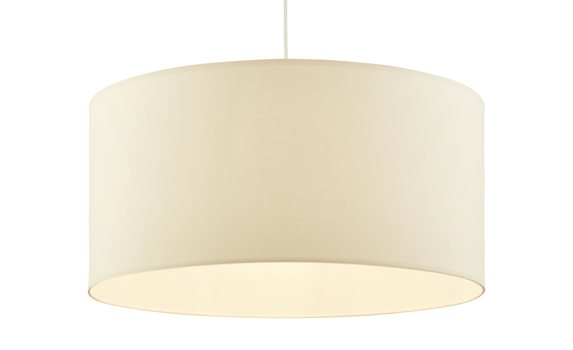 Pendelleuchte, 1-flammig, Stoffschirm ¦ beige ¦ Maße (cm): H: 24 Ø: 50 Lampen & Leuchten > Innenleuchten > Pendelleuchten - Höffner