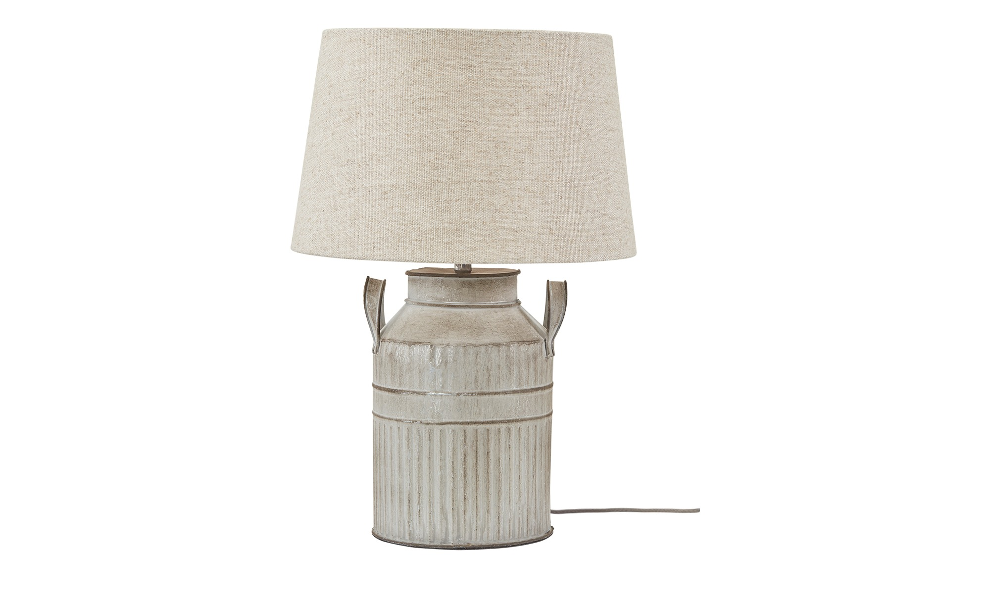 Tischleuchte, 1-flammig `Milchkanne´ groß ¦ beige ¦ Maße (cm): H: 45 Ø: 16 Lampen & Leuchten > Innenleuchten > Tischlampen - Höffner